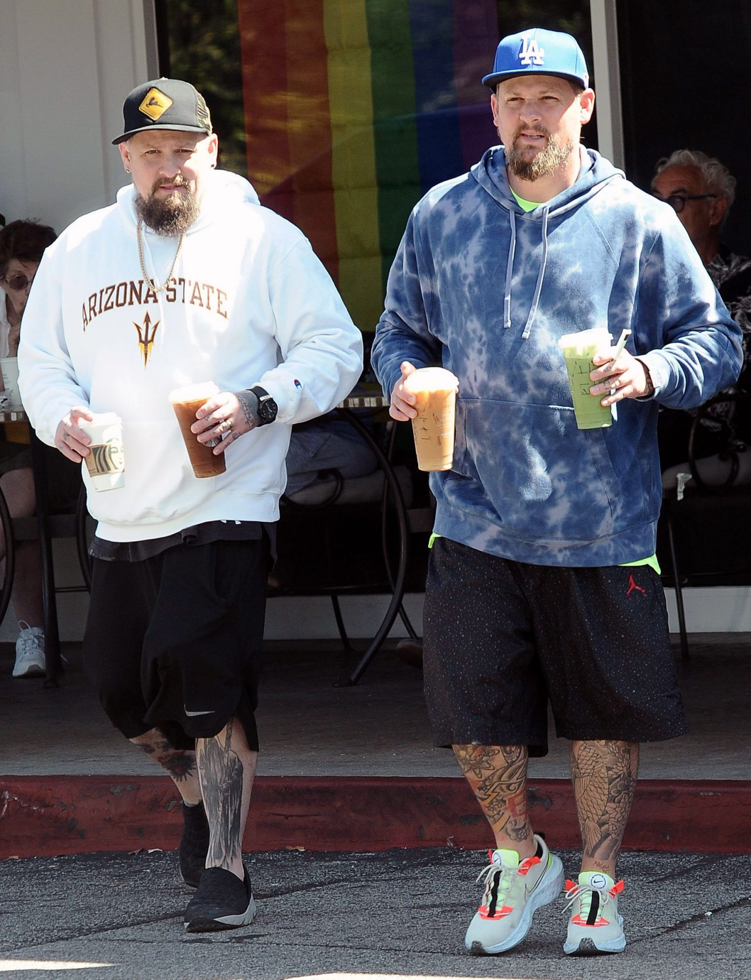 Joel Madden and Benji Madden out and about, Beverly Hills, Los Angeles, USA - 28 Jun 2021