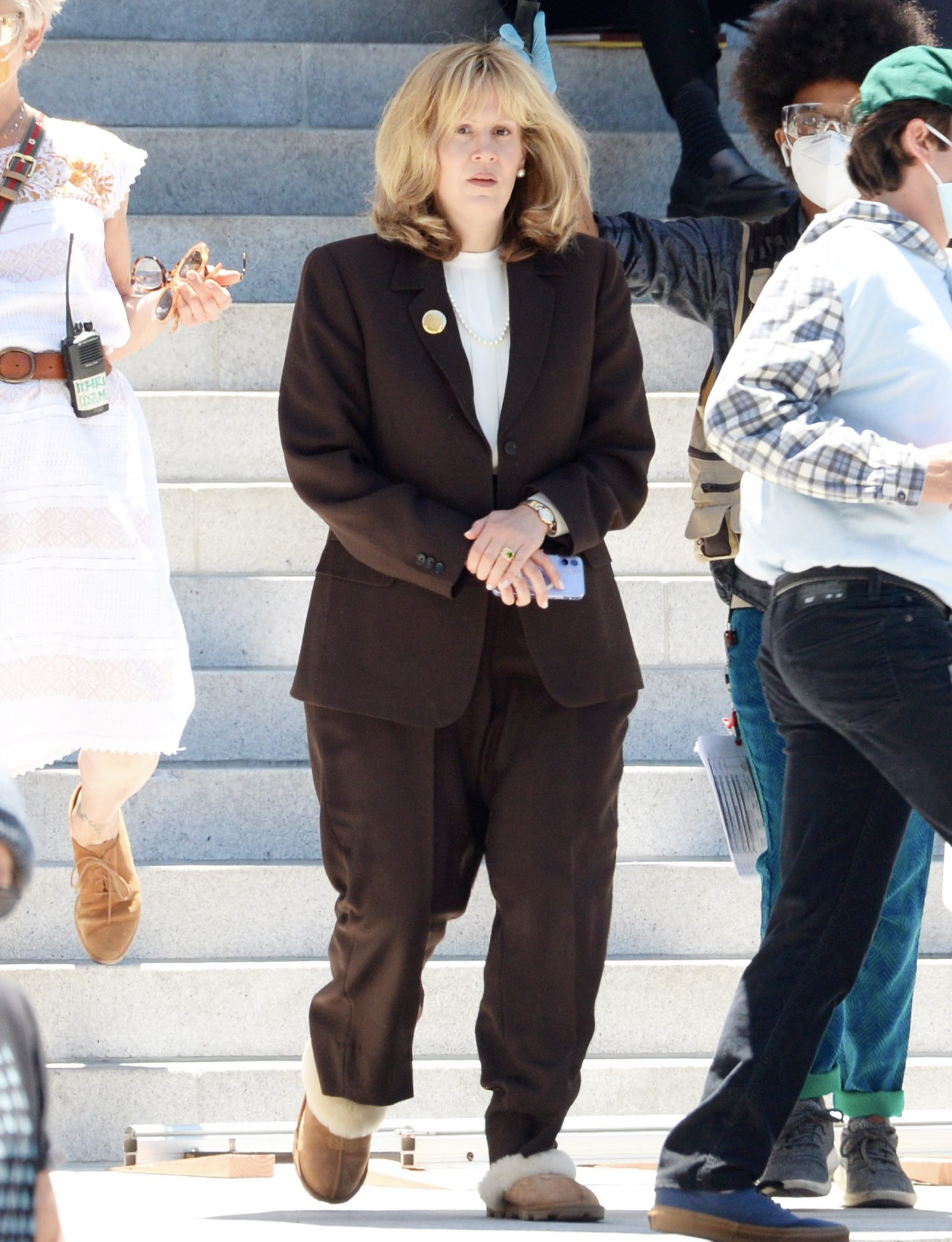 """Sarah Paulson is Unrecognizable on the set of """"American Crime Story: Impeachment."""