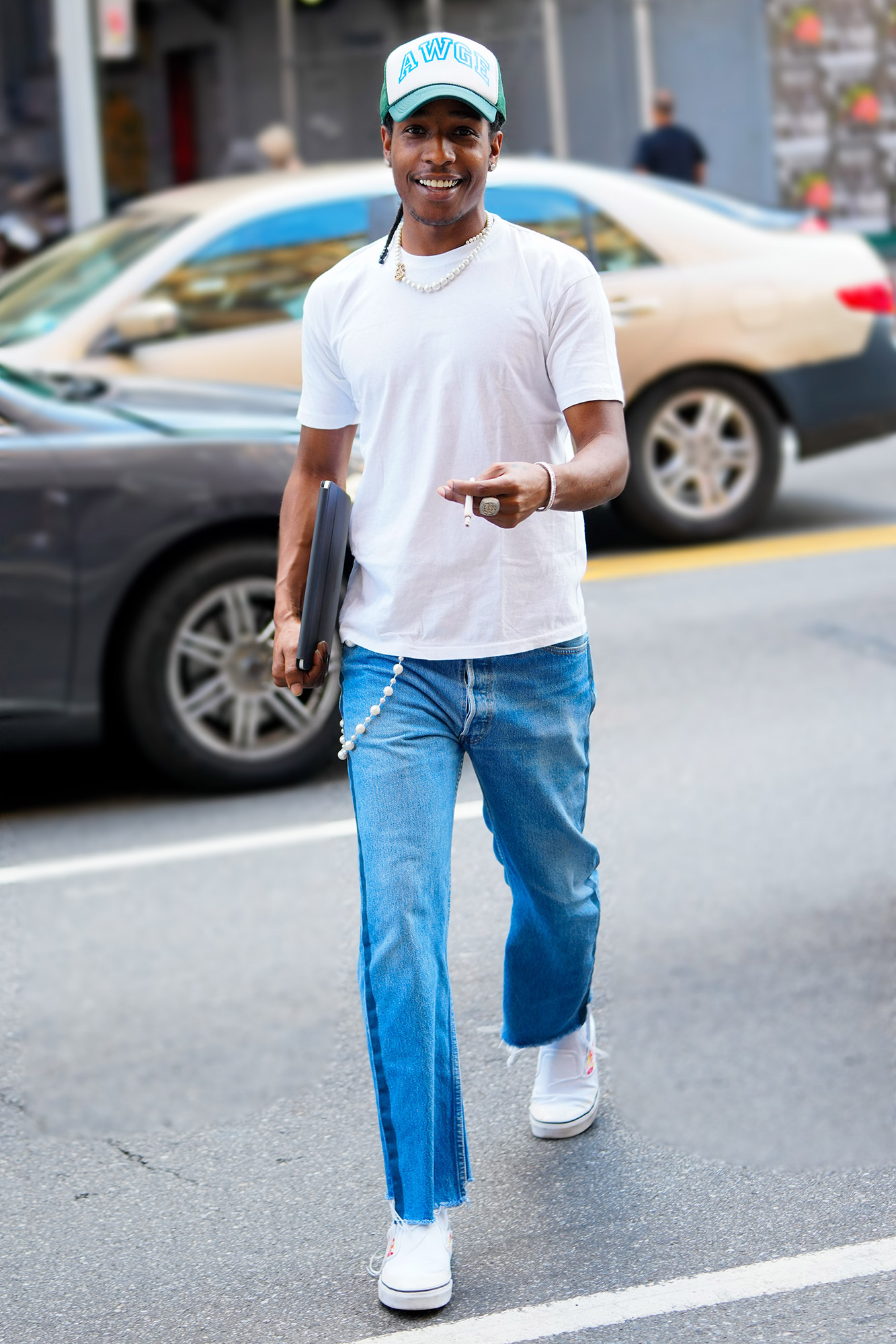 A$AP Rocky is seen on June 30, 2021 in New York City
