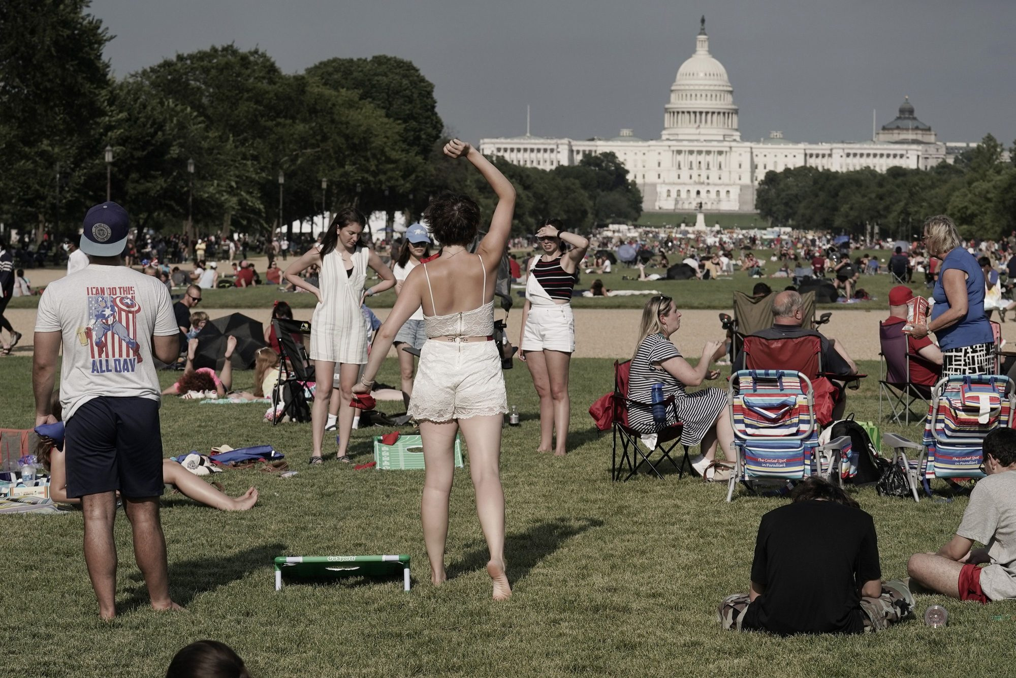 People gather to celebrate America's 245th Independence Day on the National Mall