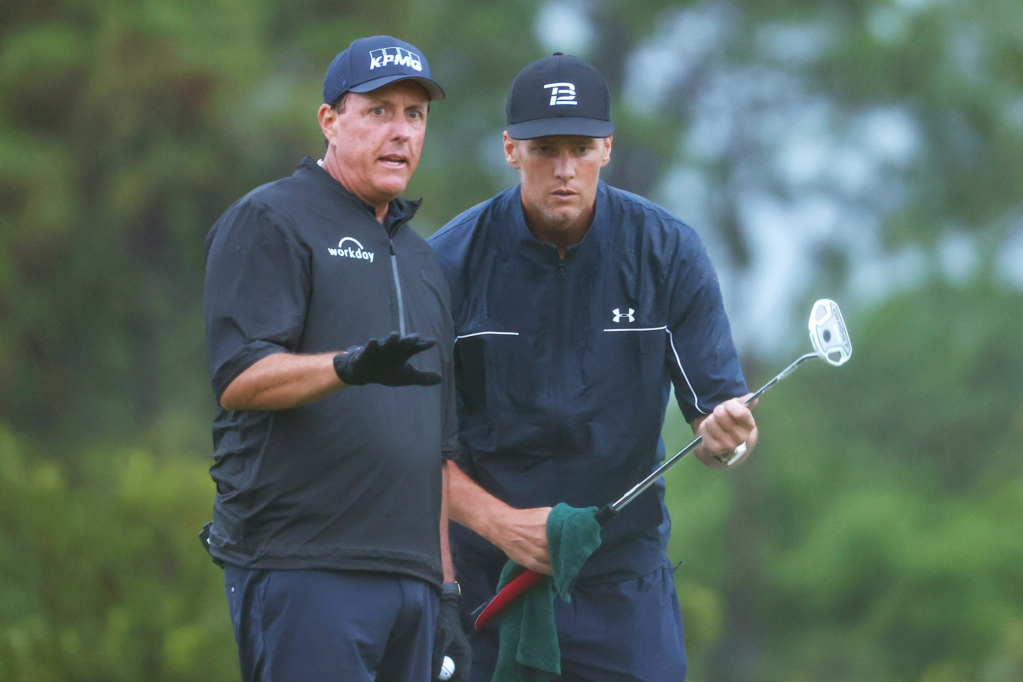 Tom Brady and Phil Mickelson at last year's The Match
