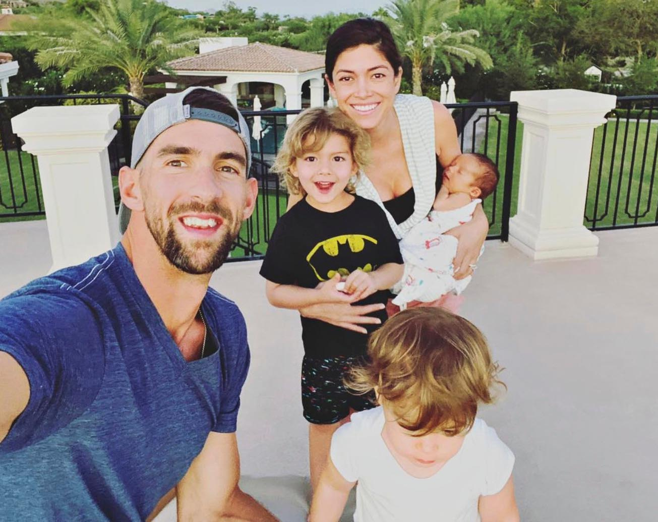 michael phelps with family