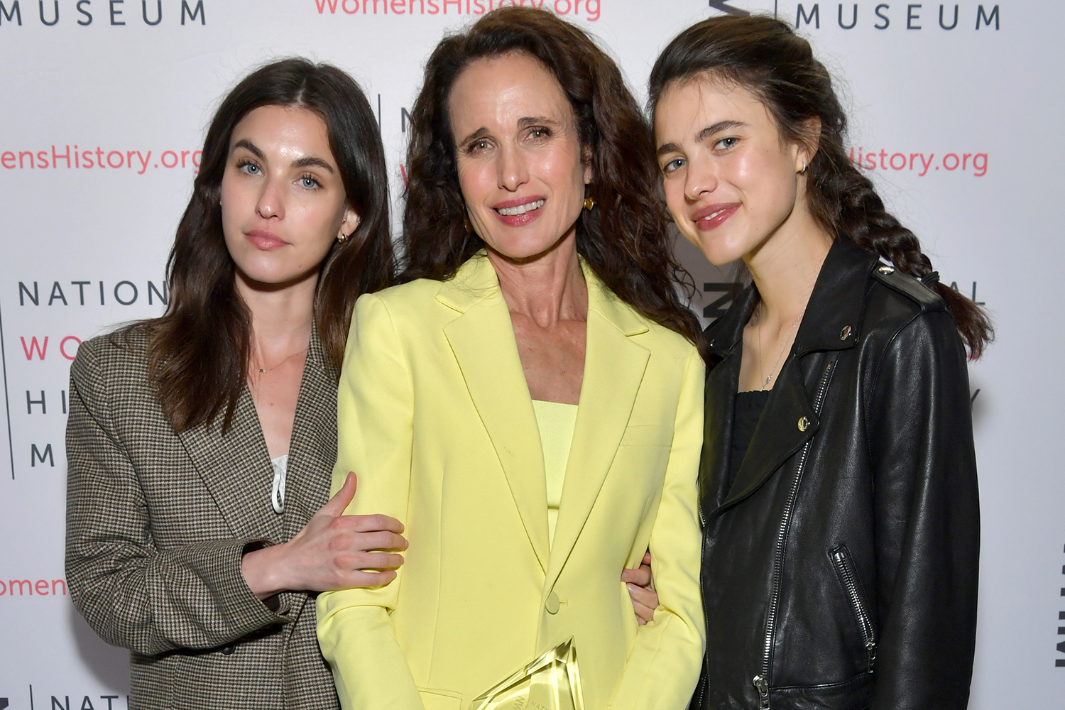 Rainey Qualley, Andie MacDowell, and Margaret Qualley