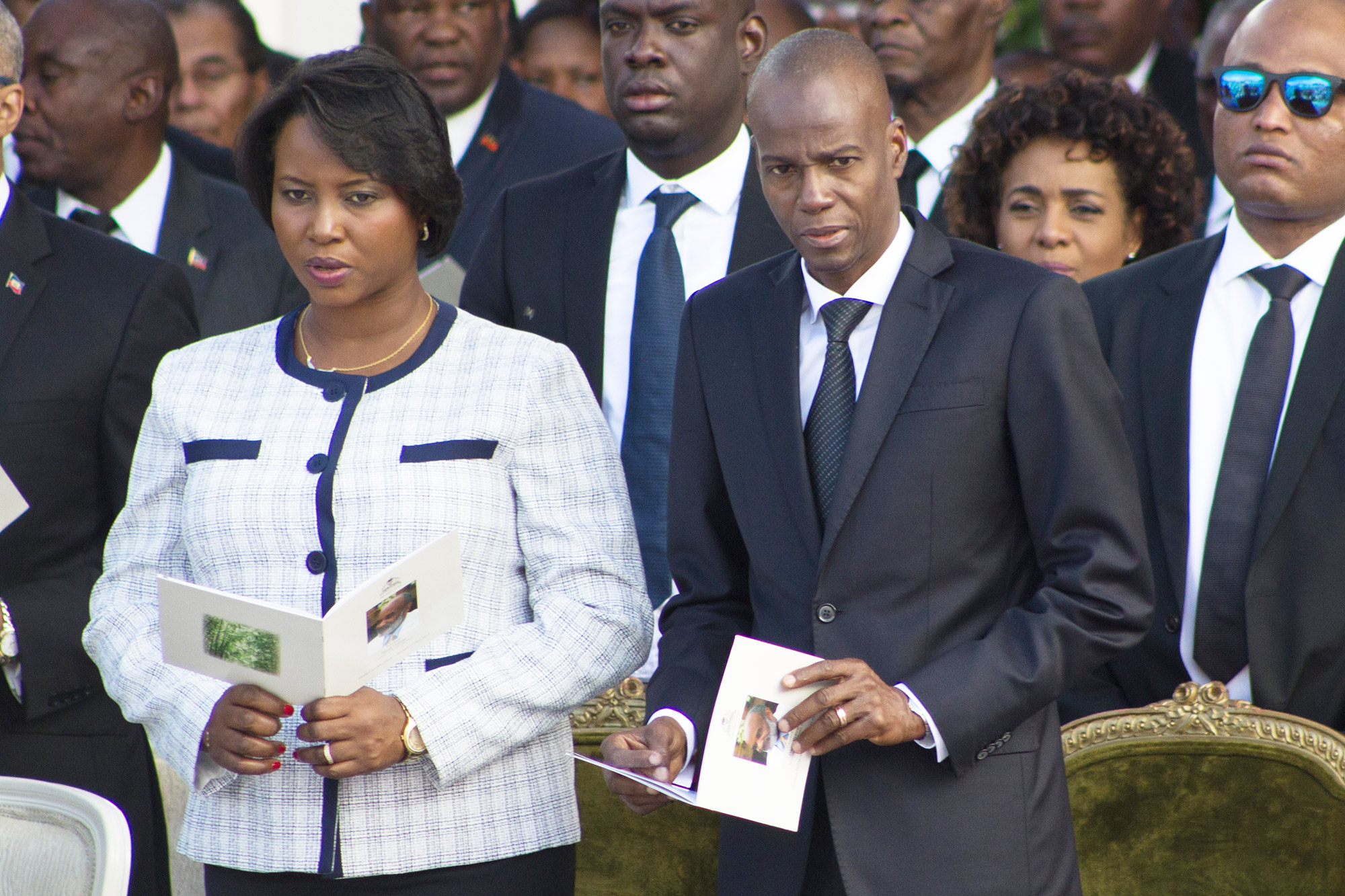 President of Haiti Jovenel Moise and his wife