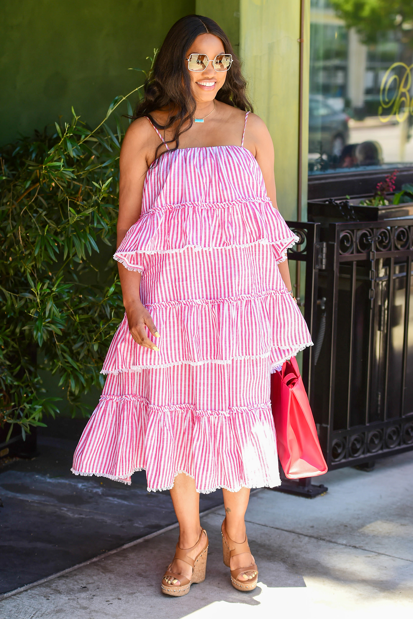 Garcelle Beauvais is seen on July 07, 2021 in Los Angeles, California