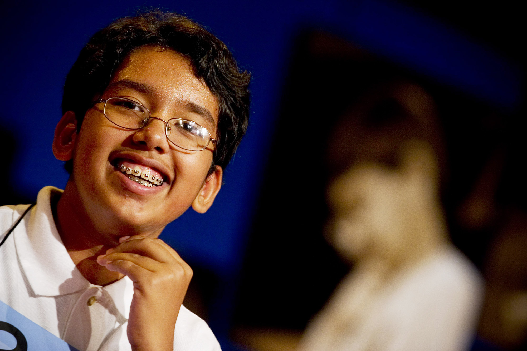 """After 19 rounds of competition Anurag Kashyap, 13, an eighth grader from Meadowbrook Middle School in Poway, California, wins the bee having correctly spelled the word """"appoggiatura"""" in the Grand Hyatt Hotel June 2, 2005 in Washington, DC. The 78th Annual Scripps National Spelling Bee got underway with 73 spellers sponsored by over 260 sponsors from the United States, Europe, Canada, New Zealand, Guam, Jamaica, Puerto Rico, the U.S. Virgin Islands, The Bahamas, and American Samoa. The spellers started with a 25-word written test followed by several oral rounds until a winner was chosen. During the oral rounds a speller could ask a word's pronunciation, definition, part of speech, etymology and could also ask to have the word used in a sentence. The spelling bee is held from June 1 through June 2."""