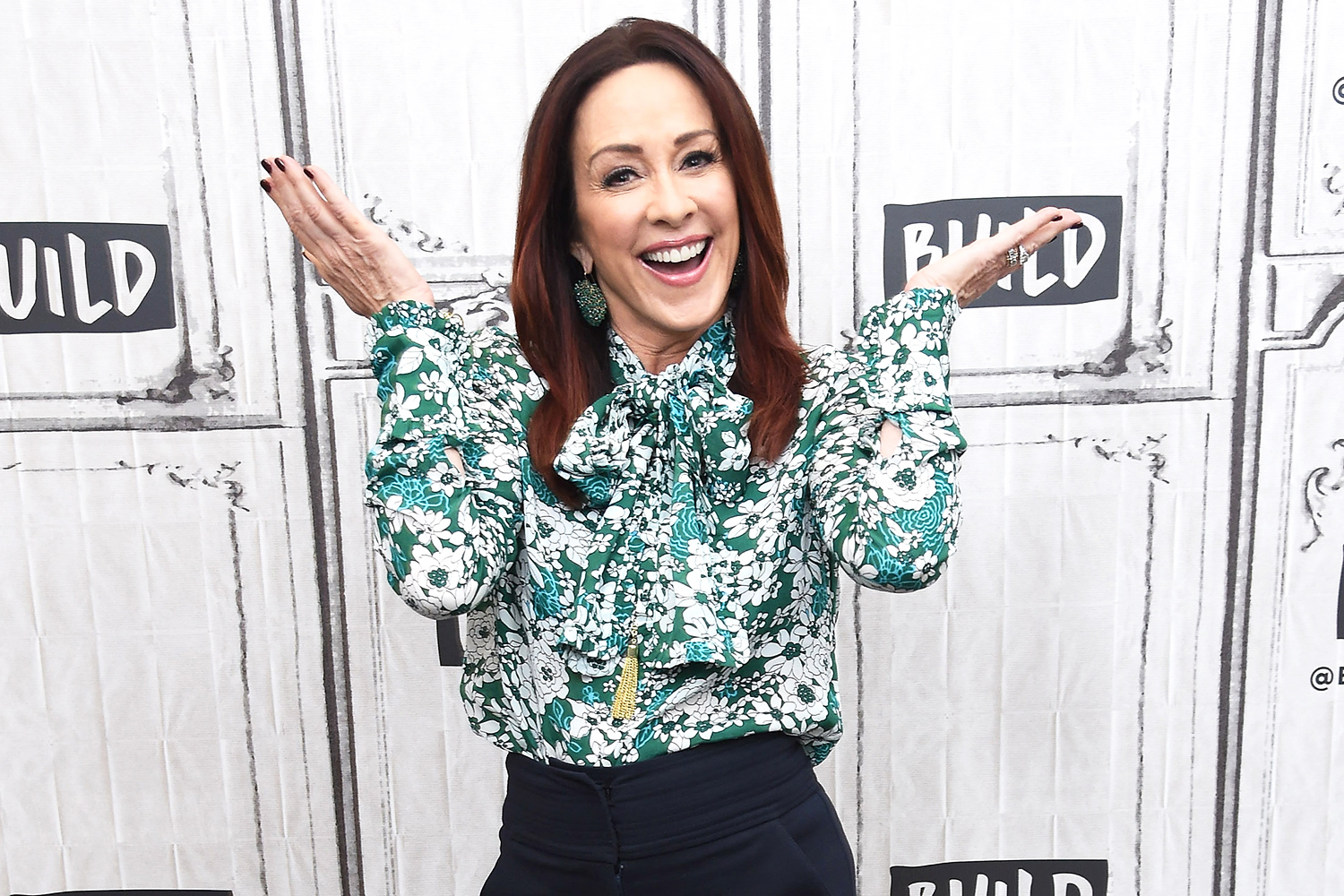 Patricia Heaton visits Build Series to discuss the charitable foundation Giving Tuesday at Build Studio on November 26, 2018 in New York City.
