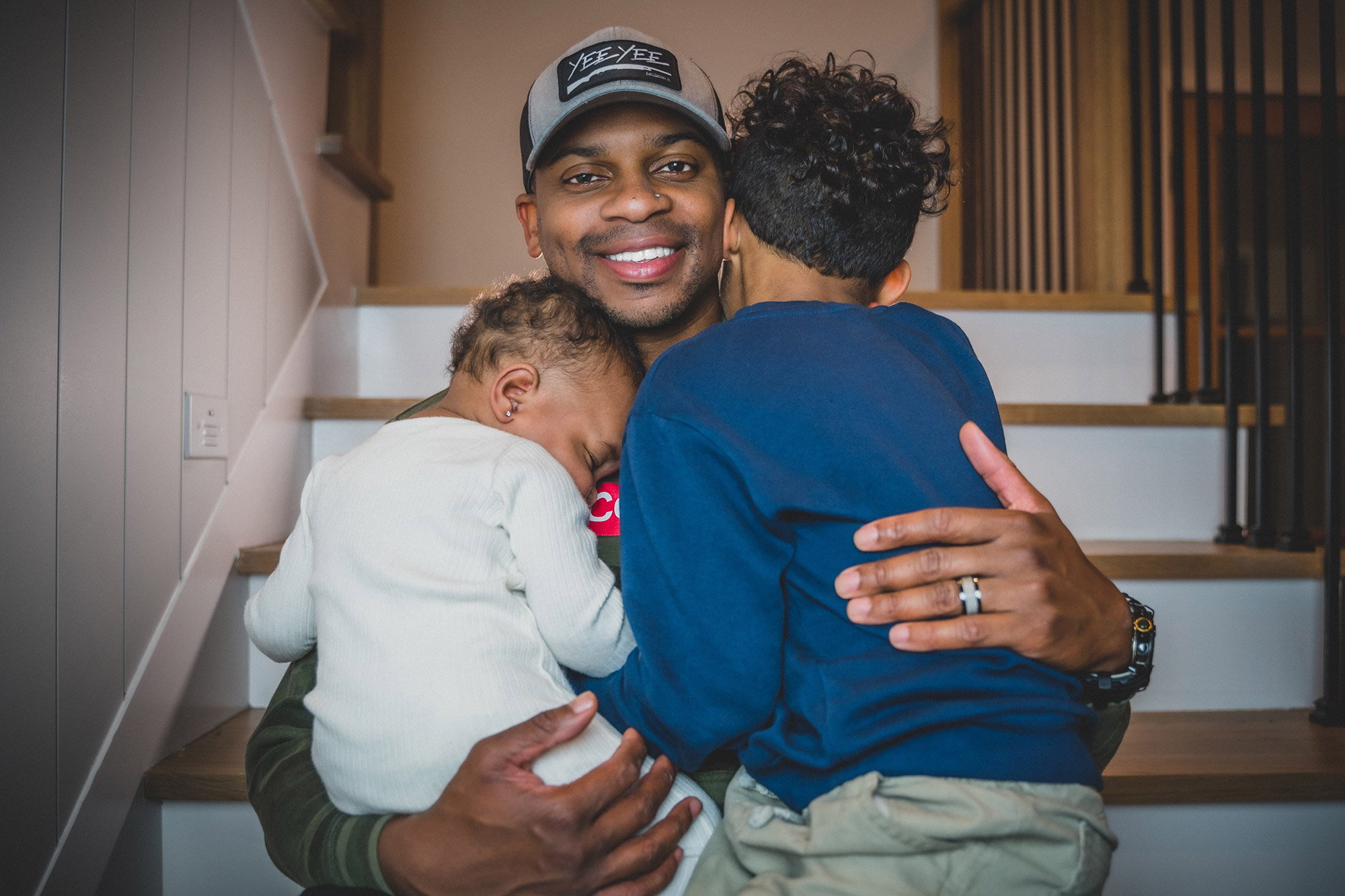 Jimmie Allen with Naomi and Aadyn