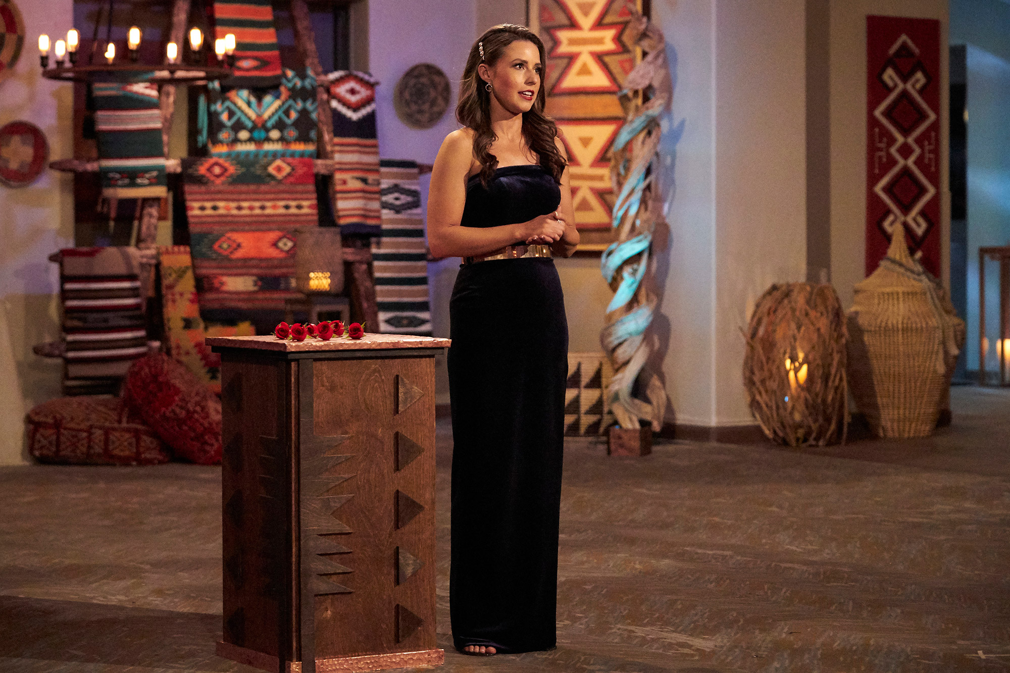 """THE BACHELORETTE - After narrowing down her suitors to the remaining dirty dozen, Katie hopes to find out who has the willpower to keep it clean with a new – and hard – challenge. While the guys in the house see if they can keep their promise, one lucky man opens up to Katie with vows of his own in a ceremonious one-on-one date. Katie then enlists two queens – """"RuPaul's Drag Race All-Stars"""" winners Shea Couleé and Monét X Change – to help find her a king in a group date debate that is sure to bring some royal tension. And later, a one-on-one date becomes a two-on-two, with a special double date featuring Bachelor Nation power couple Kaitlyn Bristowe and (her now fiancé) Jason Tartick. But do Kaitlyn and Jason's connection make Katie question her own? An all-new """"The Bachelorette"""" airs MONDAY, JULY 12 (8:00-10:00 p.m. EDT), on ABC. (ABC/Craig Sjodin) KATIE THURSTON"""