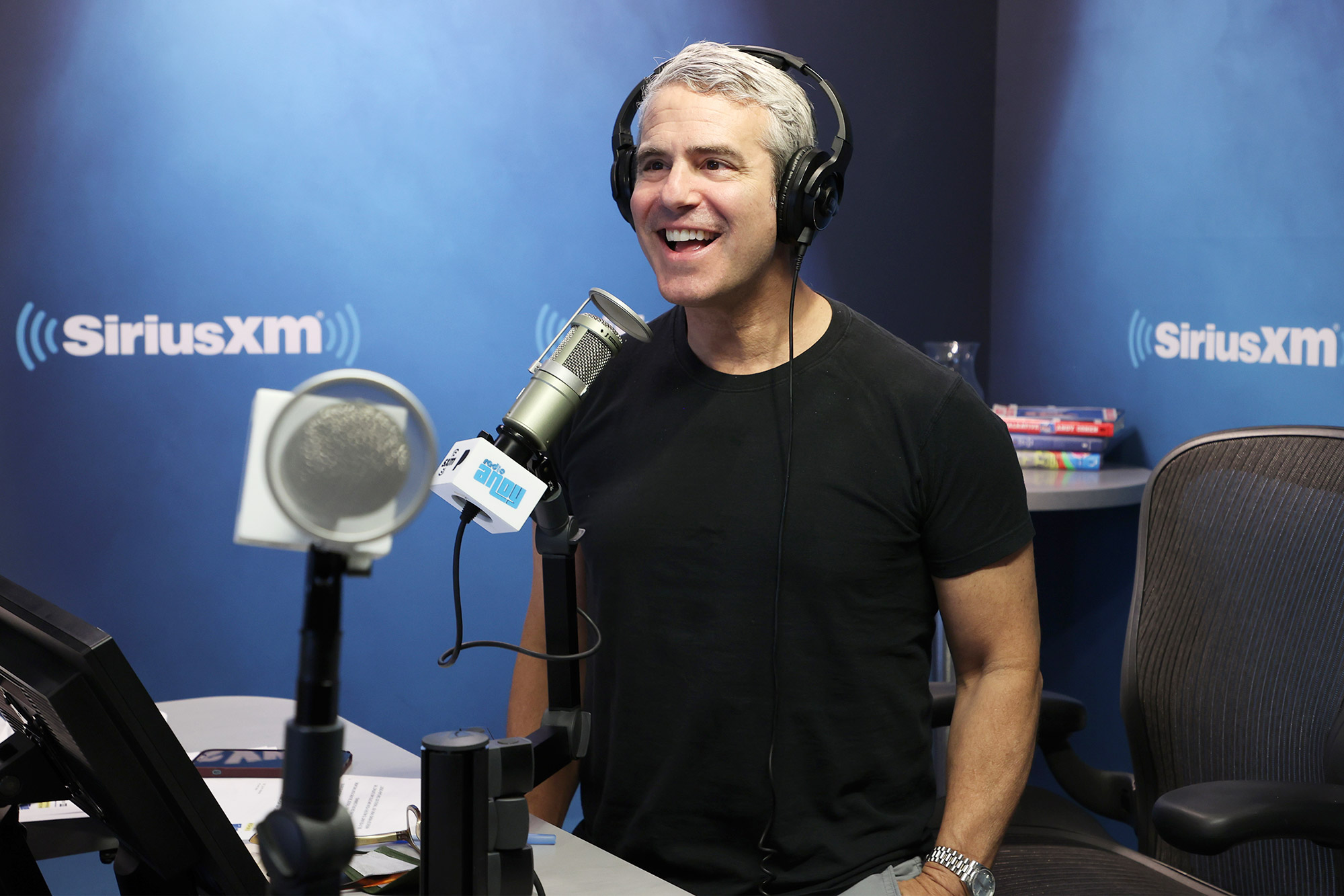 Andy Cohen hosts 'Andy Cohen Live' on SiriusXM's Radio Andy, live from the SiriusXM Studios on July 12, 2021 in New York City