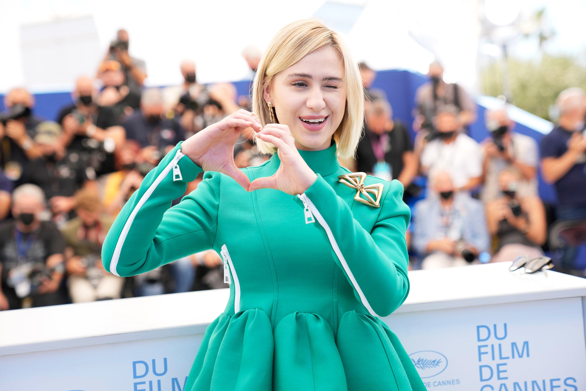 Maria Bakalova poses for photographers at the photo call for the film 'Women Do Cry' at the 74th international film festival, Cannes, southern France 2021 Women Do Cry Photo Call, Cannes, France - 14 Jul 2021