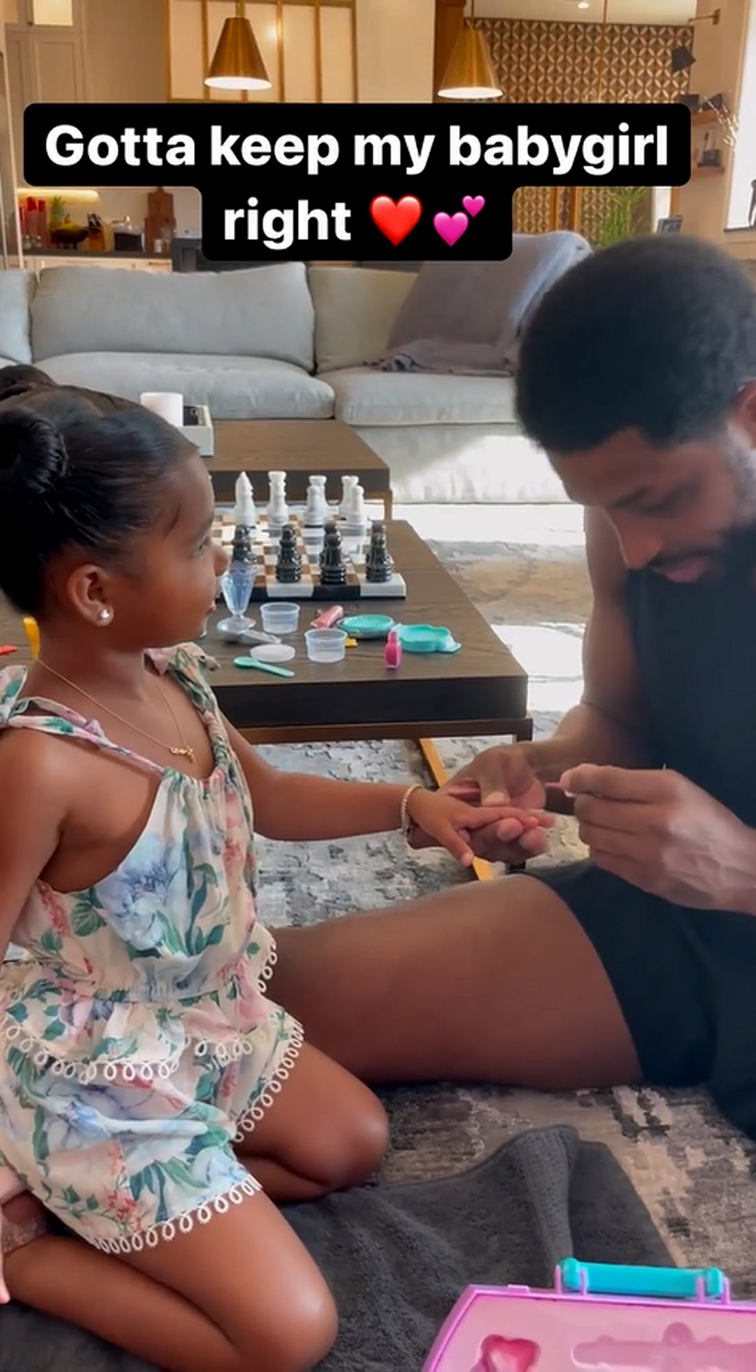Tristan Thompson Shares Sweet Video Painting Daughter True's Nails