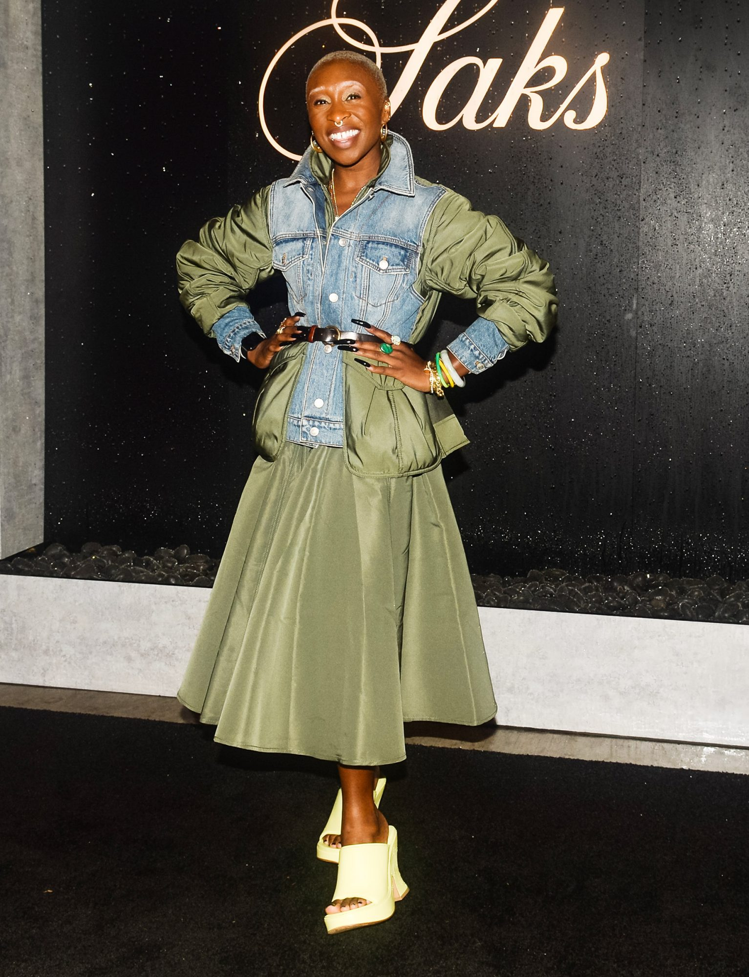 Cynthia Erivo attends Saks and Cynthia Erivo Celebrate Summer in the Hamptons at Parrish Art Museum, Water Mill, New York on July 14, 2021