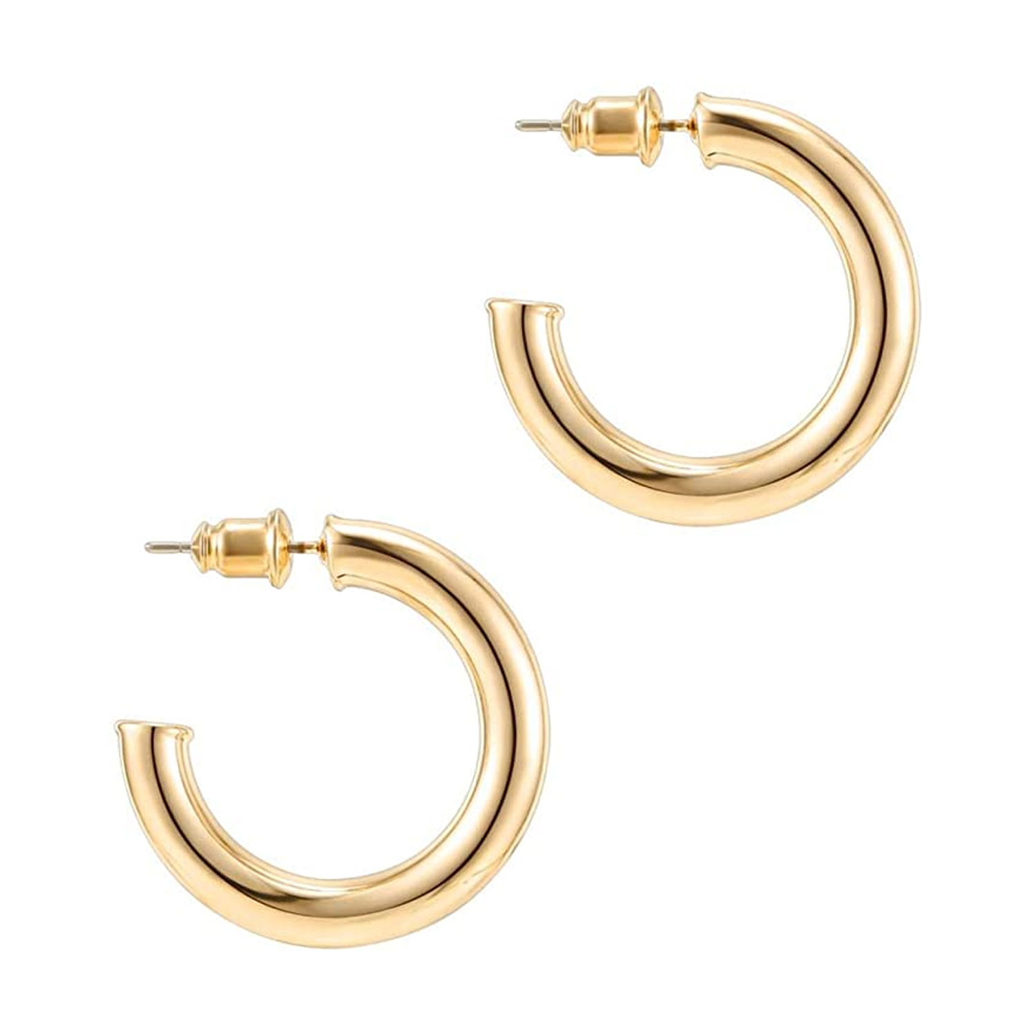 two gold hoops