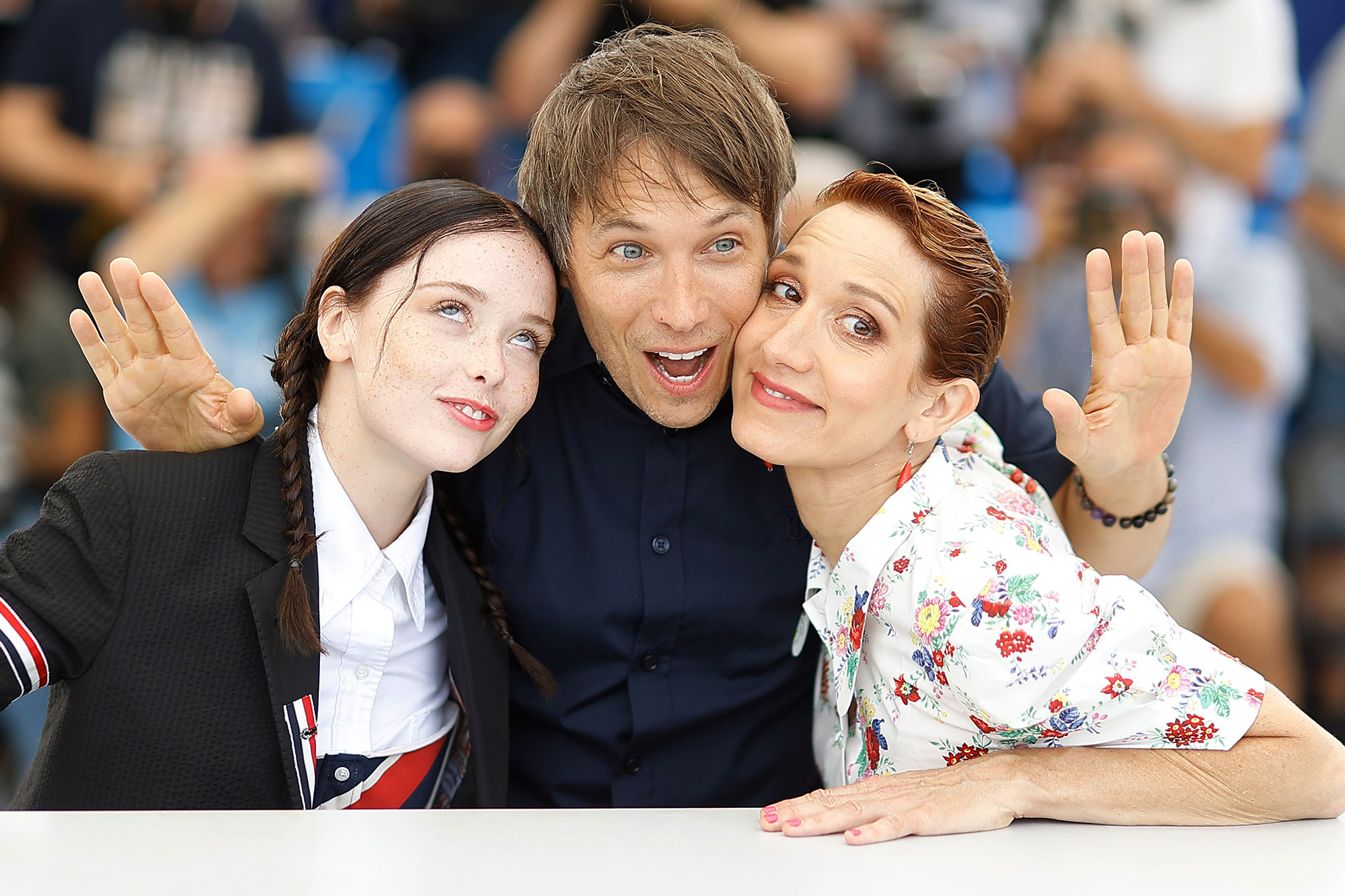 Suzanna Son, director Sean Baker, and Bree Elrod pose during the photocall for 'Red Rocket' at the 74th annual Cannes Film Festival, in Cannes, France, 15 July 2021. The movie is presented in the Official Competition of the festival which runs from 06 to 17 July. Red Rocket Photocall - 74th Cannes Film Festival, France - 15 Jul 2021