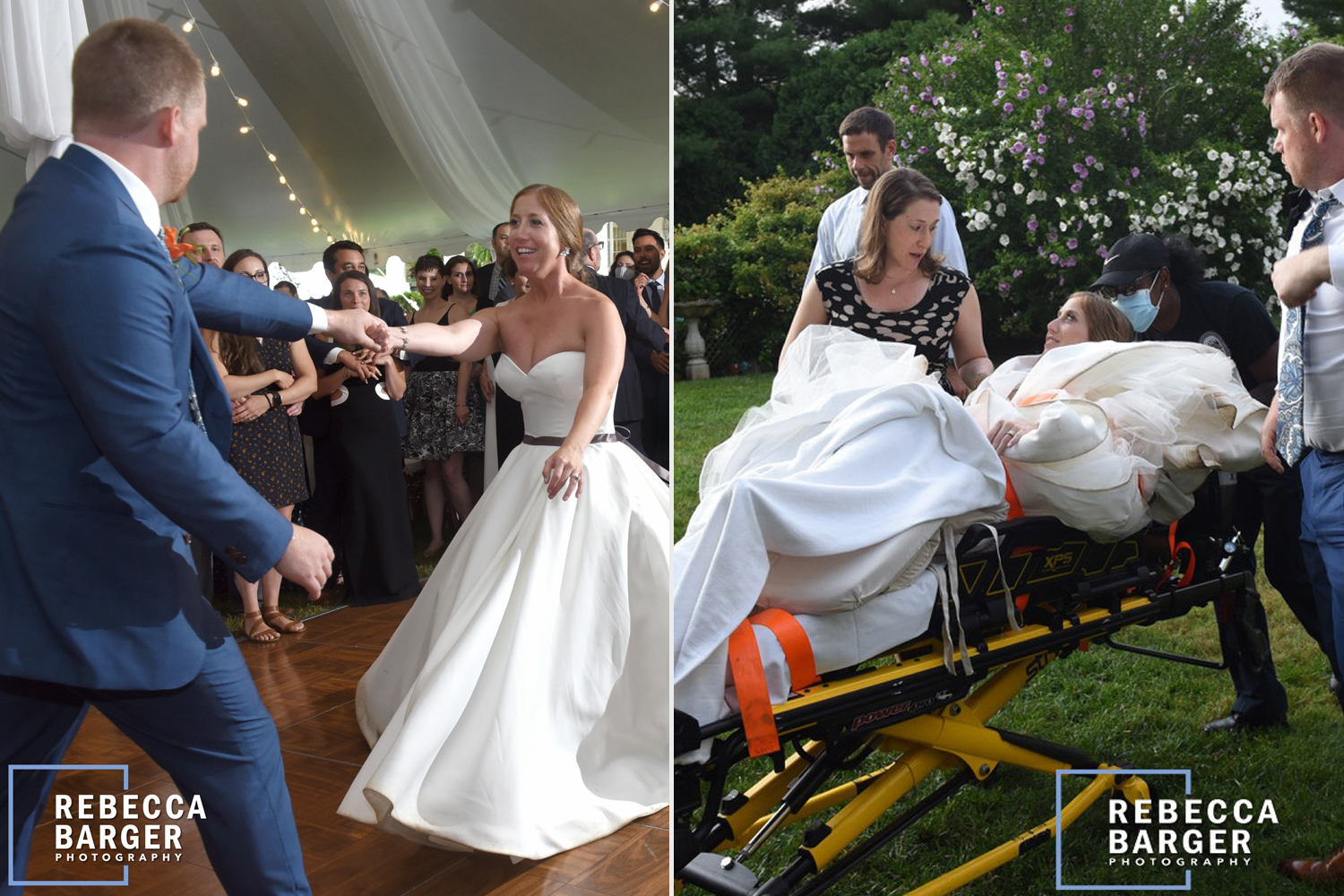 Bride Dislocates Leg During First Dance and Is Wheeled Out of Wedding
