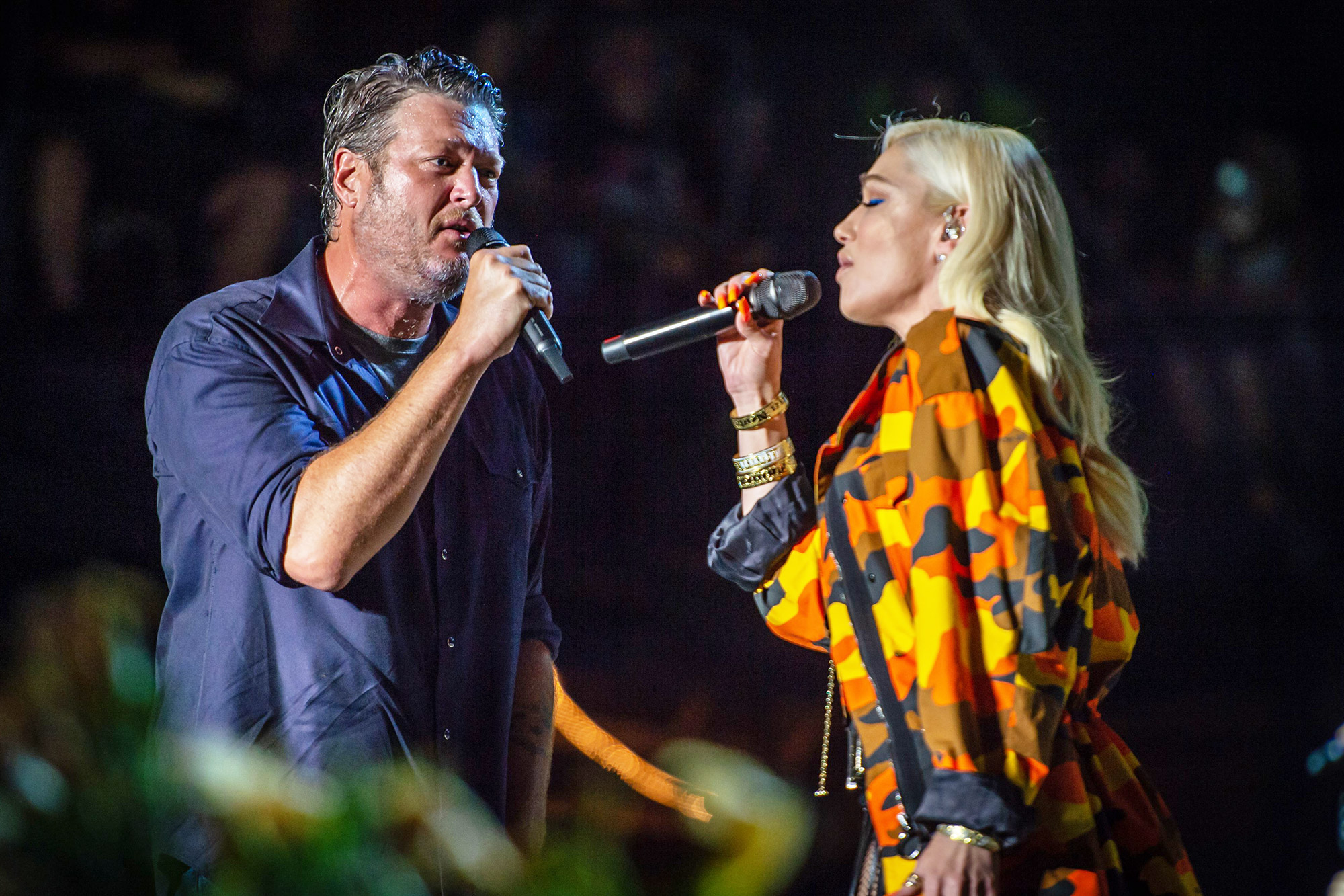 Blake Shelton and Gwen Stefani perform at the Country Thunder Music Festival, Twin Lakes, Wisconsin, USA - 18 Jul 2021