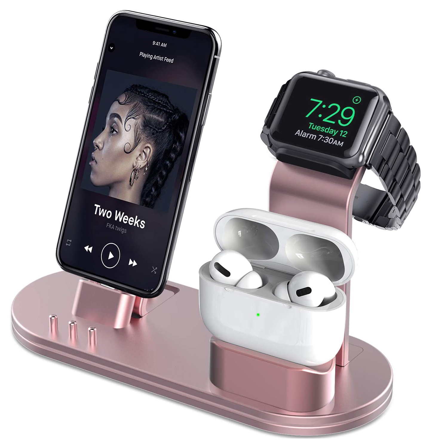 OLEBR Charging Stand Compatible with AirPods, iWatch Series