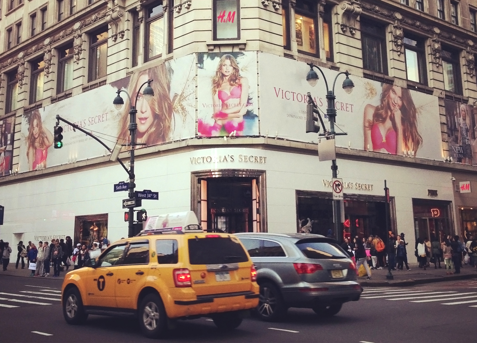 New York, New York, USA - April 13, 2013: Entrance to Victoria's Secret store located in Midtown