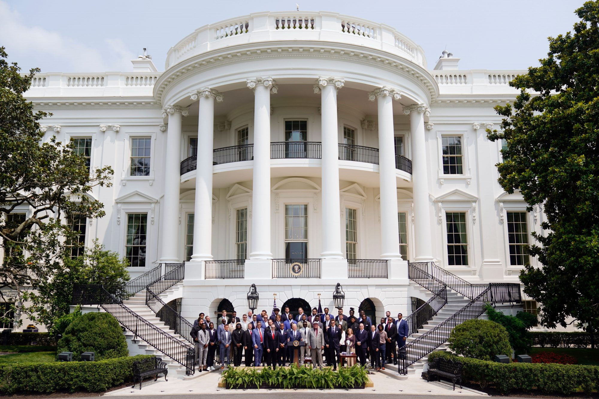 Tampa bay buccaneers at White House