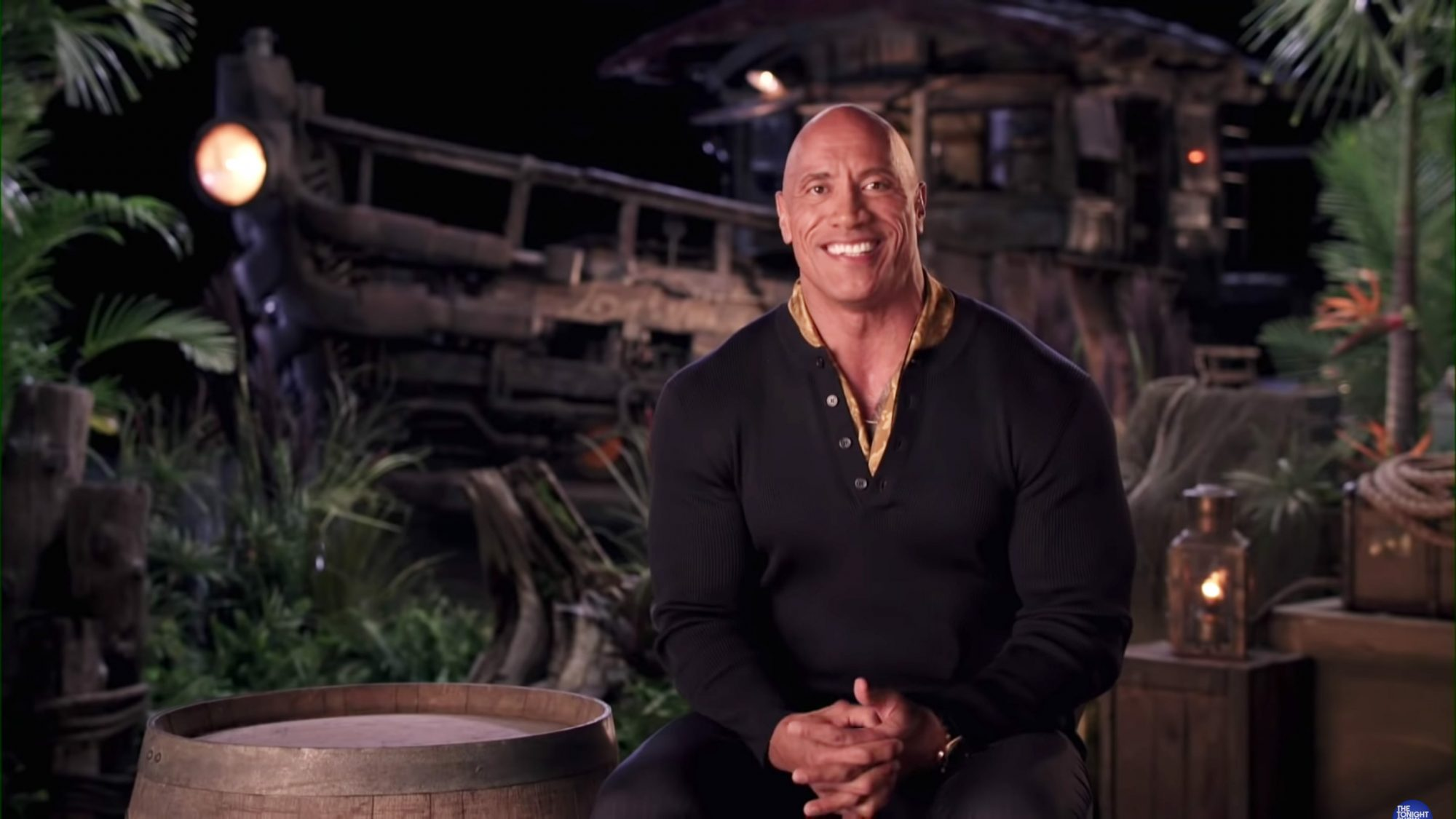 THE TONIGHT SHOW STARRING JIMMY FALLON -- Episode 1492 -- Pictured: (l-r) Actor Dwayne Johnson during an interview with host Jimmy Fallon on Monday, July 19, 2021