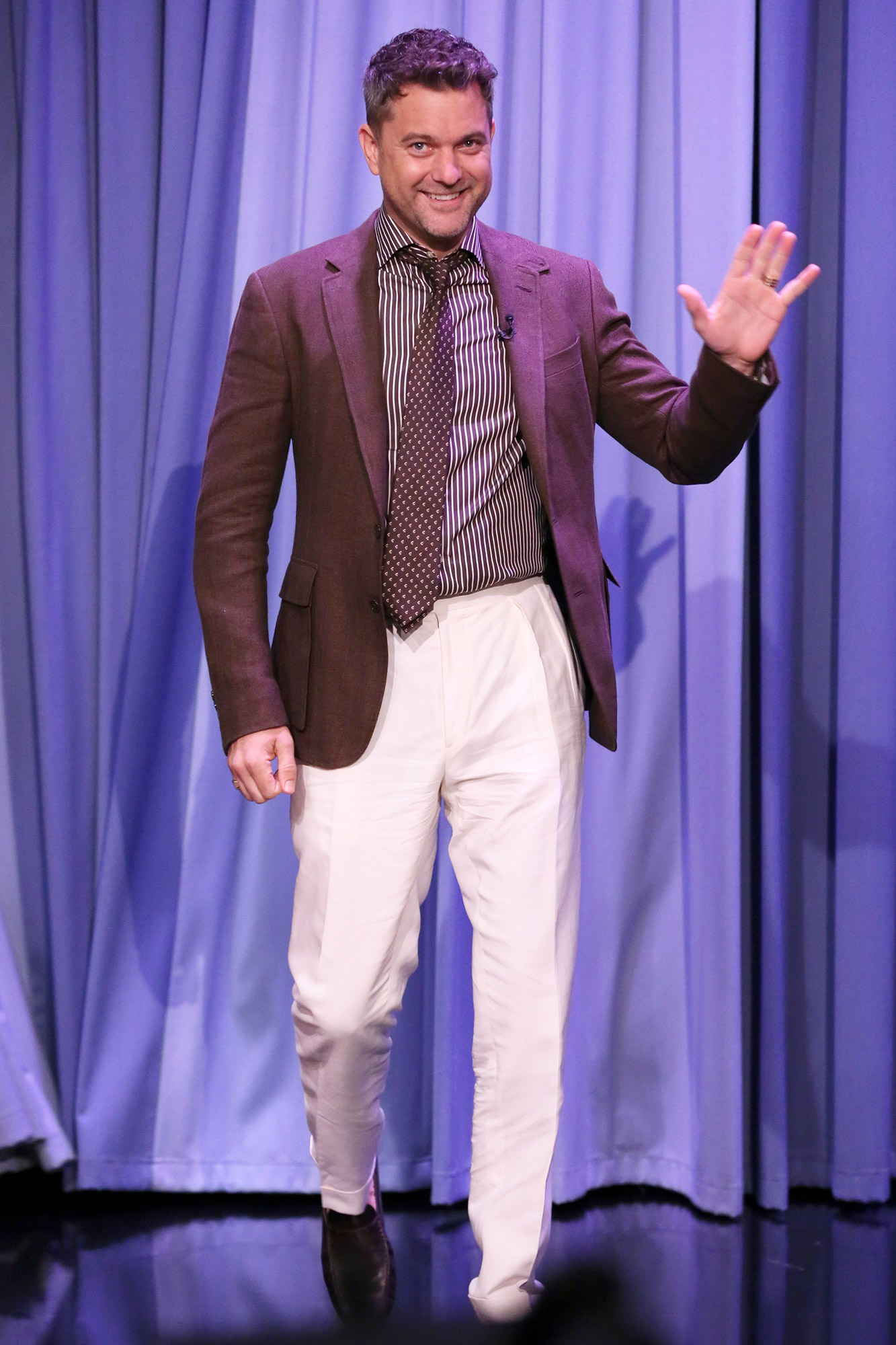 THE TONIGHT SHOW STARRING JIMMY FALLON -- Episode 1492 -- Pictured: Actor Joshua Jackson arrives on Monday, July 19, 2021