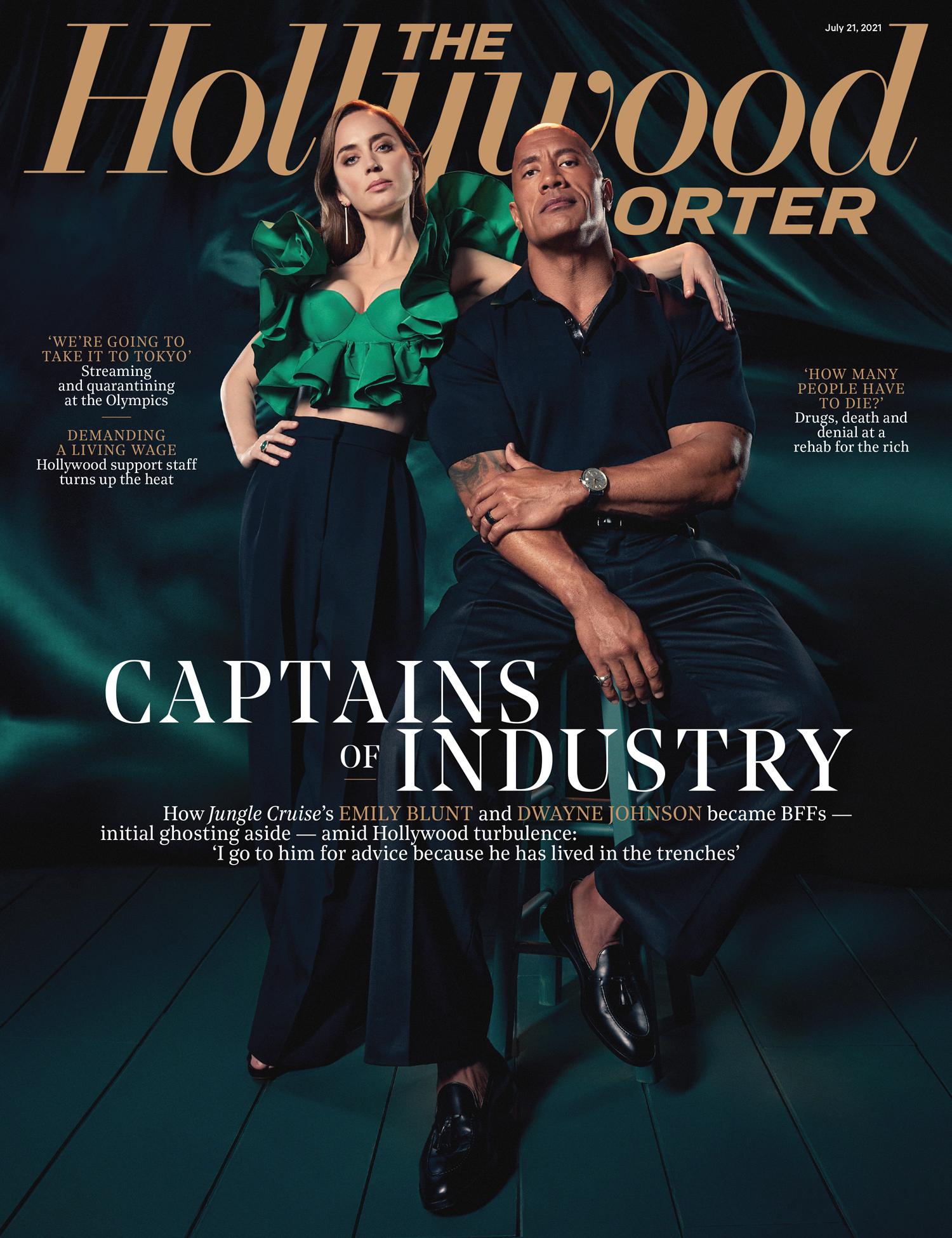 Emily Blunt and Dwayne Johnson The Hollywood Reporter