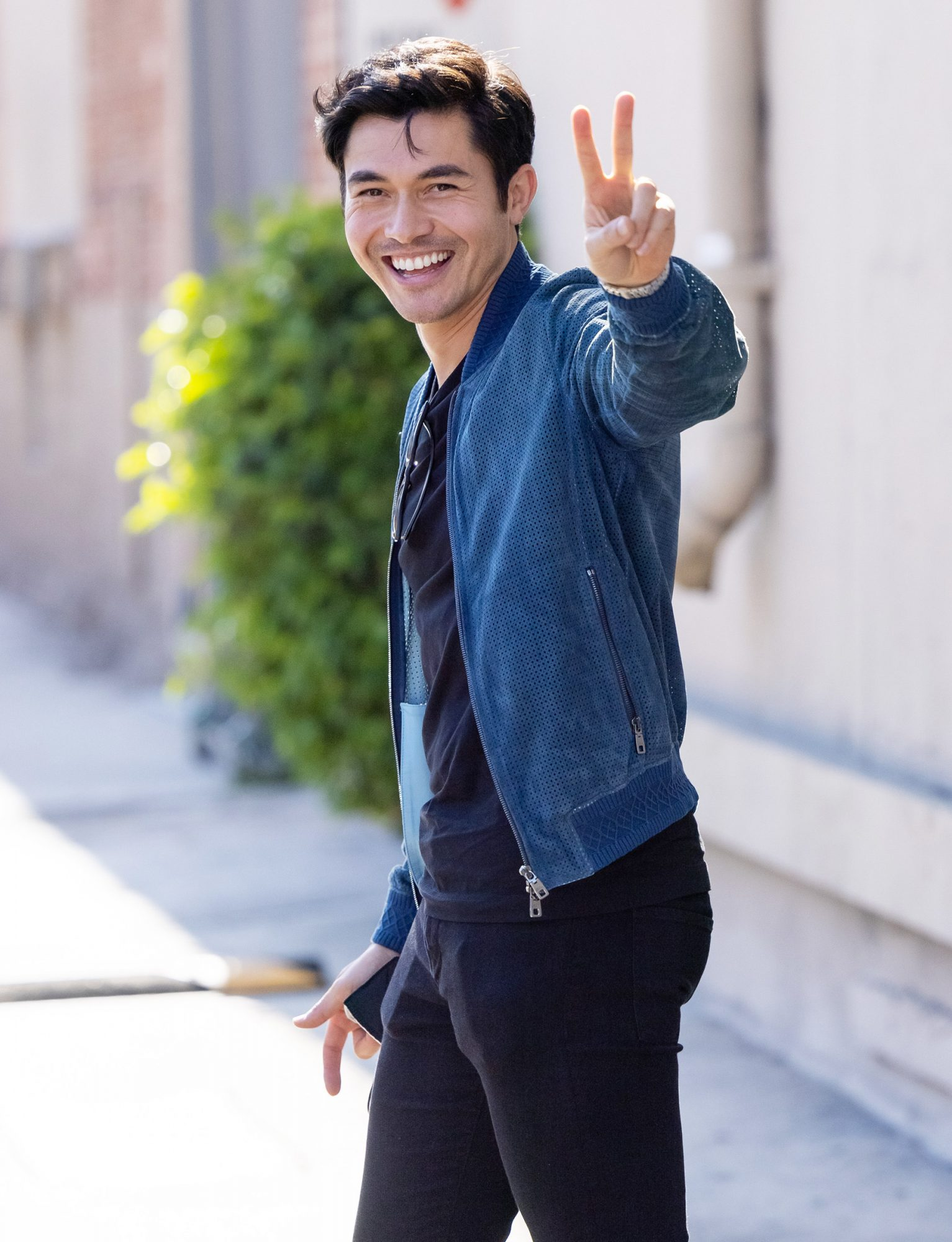 """Henry Golding is seen at """"Jimmy Kimmel Live"""" on July 20, 2021 in Los Angeles, California"""