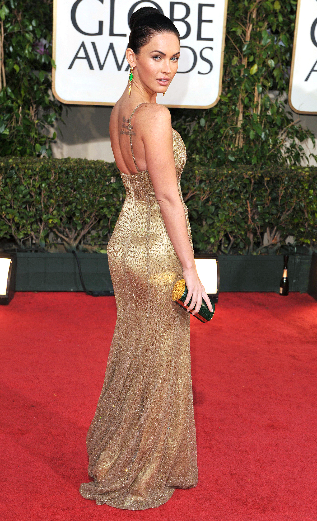 HOLLYWOOD - JANUARY 11: Megan Fox arrives at The 66th Annual Golden Globe Awards at The Beverly Hilton Hotel on January 11, 2009 in Hollywood, Californ