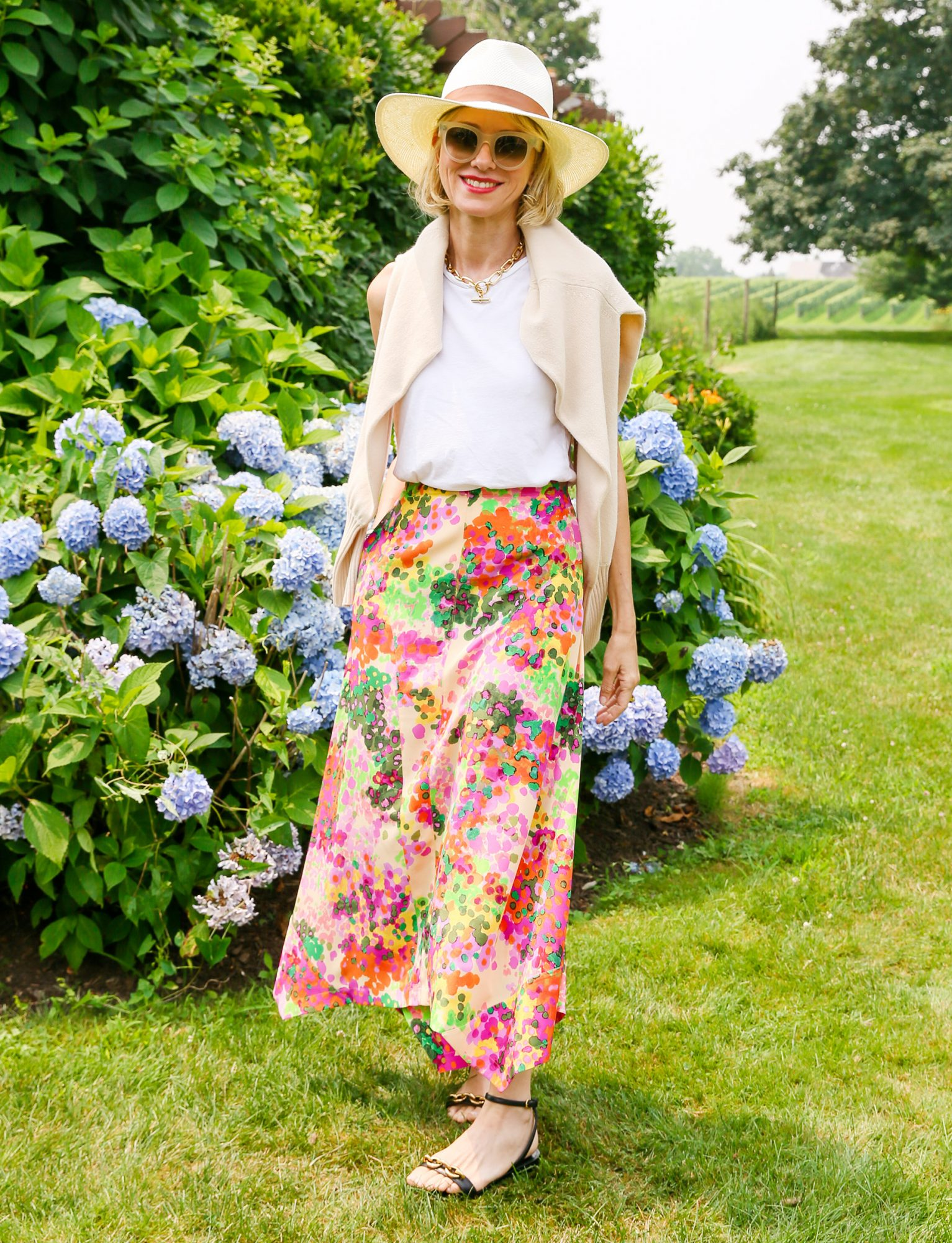 Naomi Watts attends the Mytheresa x Naomi Watts x Gucci Westman at The Wolffer Private Residence, Sagaponack, New York on July 20, 2021