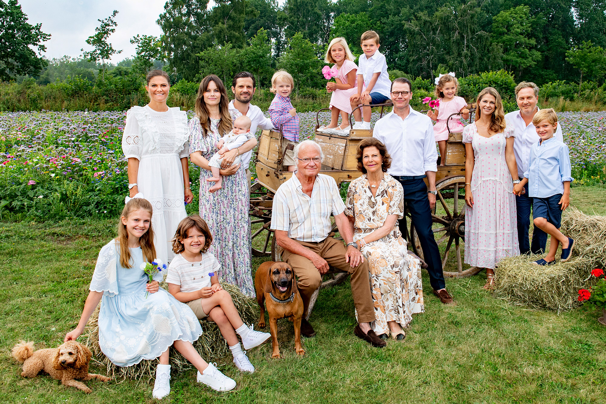 The Swedish royal family photographed at Solliden on Öland in July 2021.