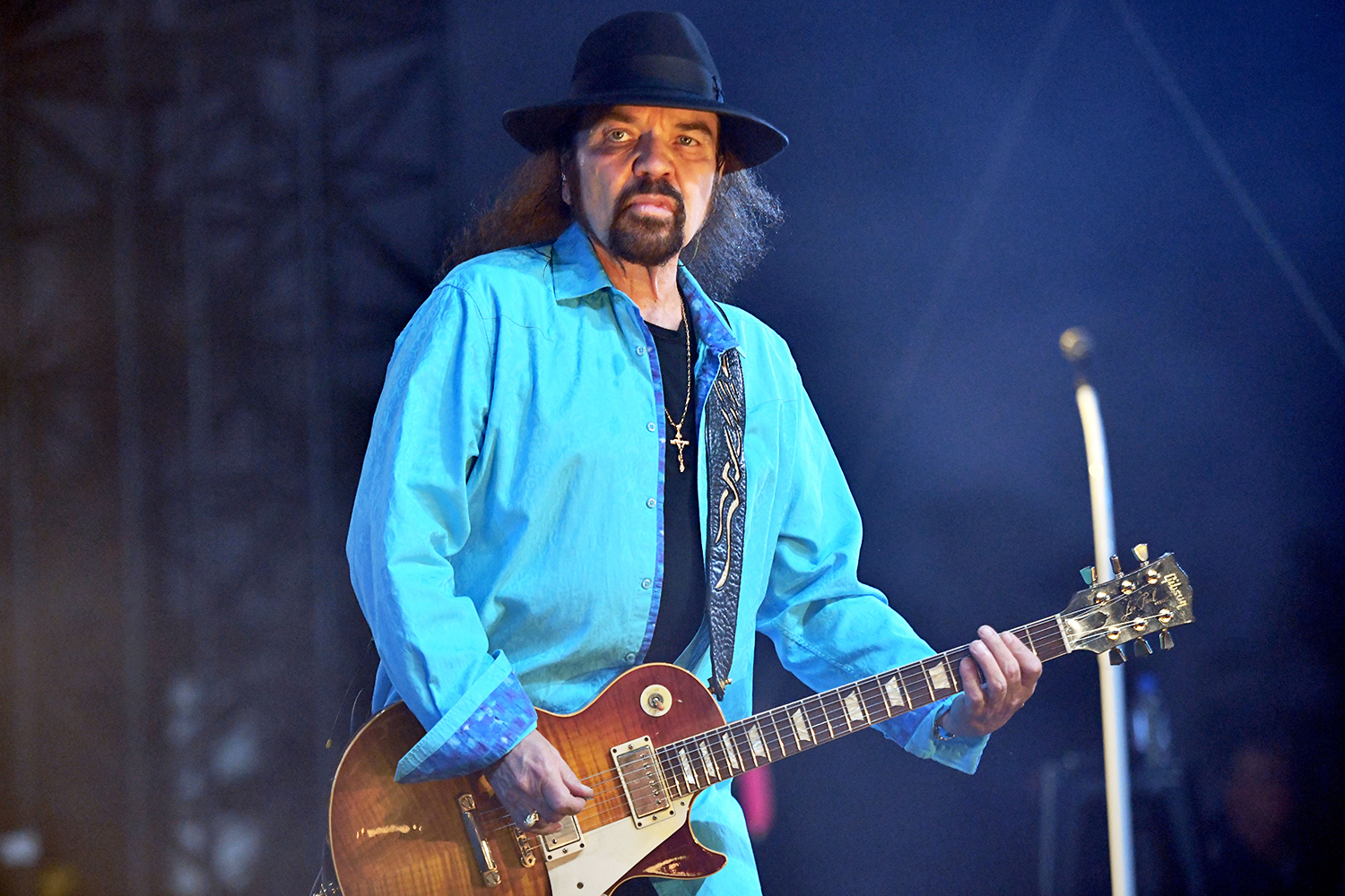 Guitarist Gary Rossington, founding member of Lynyrd Skynyrd, performs onstage during Day 2 of the Stagecoach Music Festival on April 27, 2019 in Indio, California.
