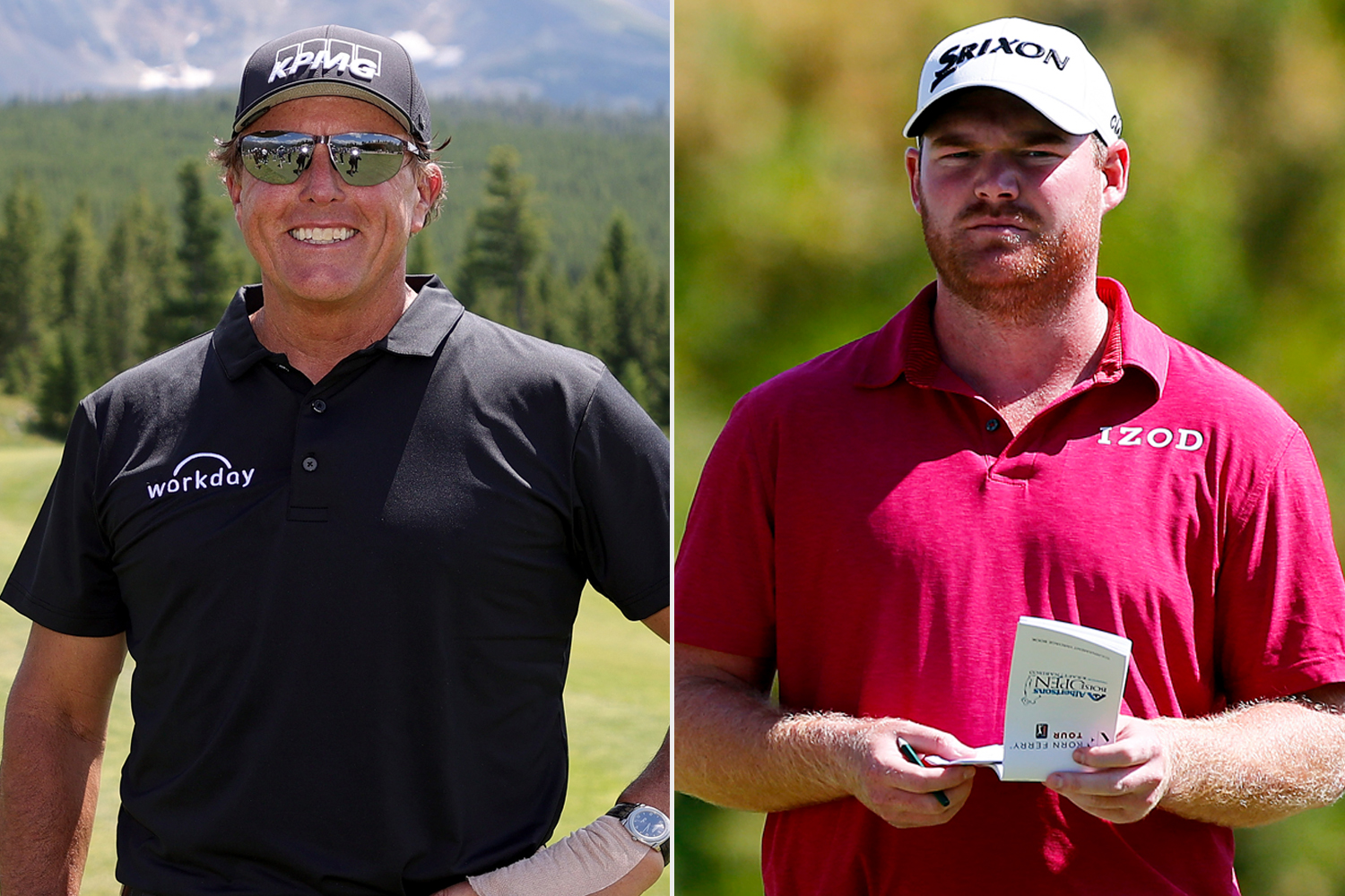 Phil Mickelson and Grayson Murray