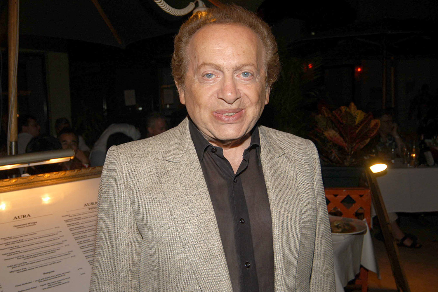 Jackie Mason attends Adam + Eve Clothing Launch Afterparty at Cafeteria at Cafeteria on February 18, 2005 in Miami Beach, FL.