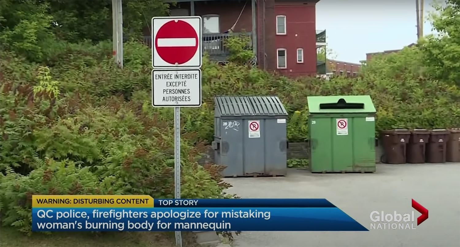 Quebec police, firefighters dispose missing woman's body after mistaking it for mannequin
