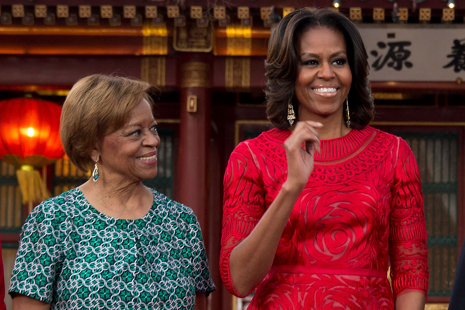 Michelle Obama and her mother Marian Robinson