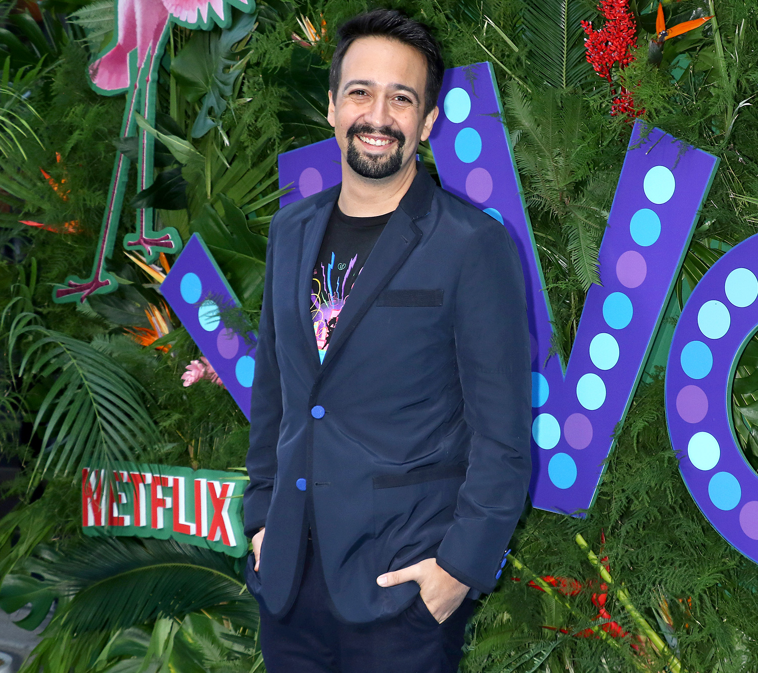 """Lin-Manuel Miranda attends the """"VIVO"""" New York screening at Village East by Angelika on July 31, 2021 in New York City."""