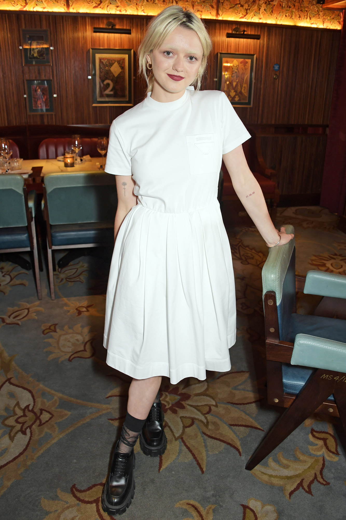 Maisie Williams attends a private dinner which she hosted at Gymkhana London to celebrate the launch of new company film production company 'Rapt' on August 2, 2021 in London, England