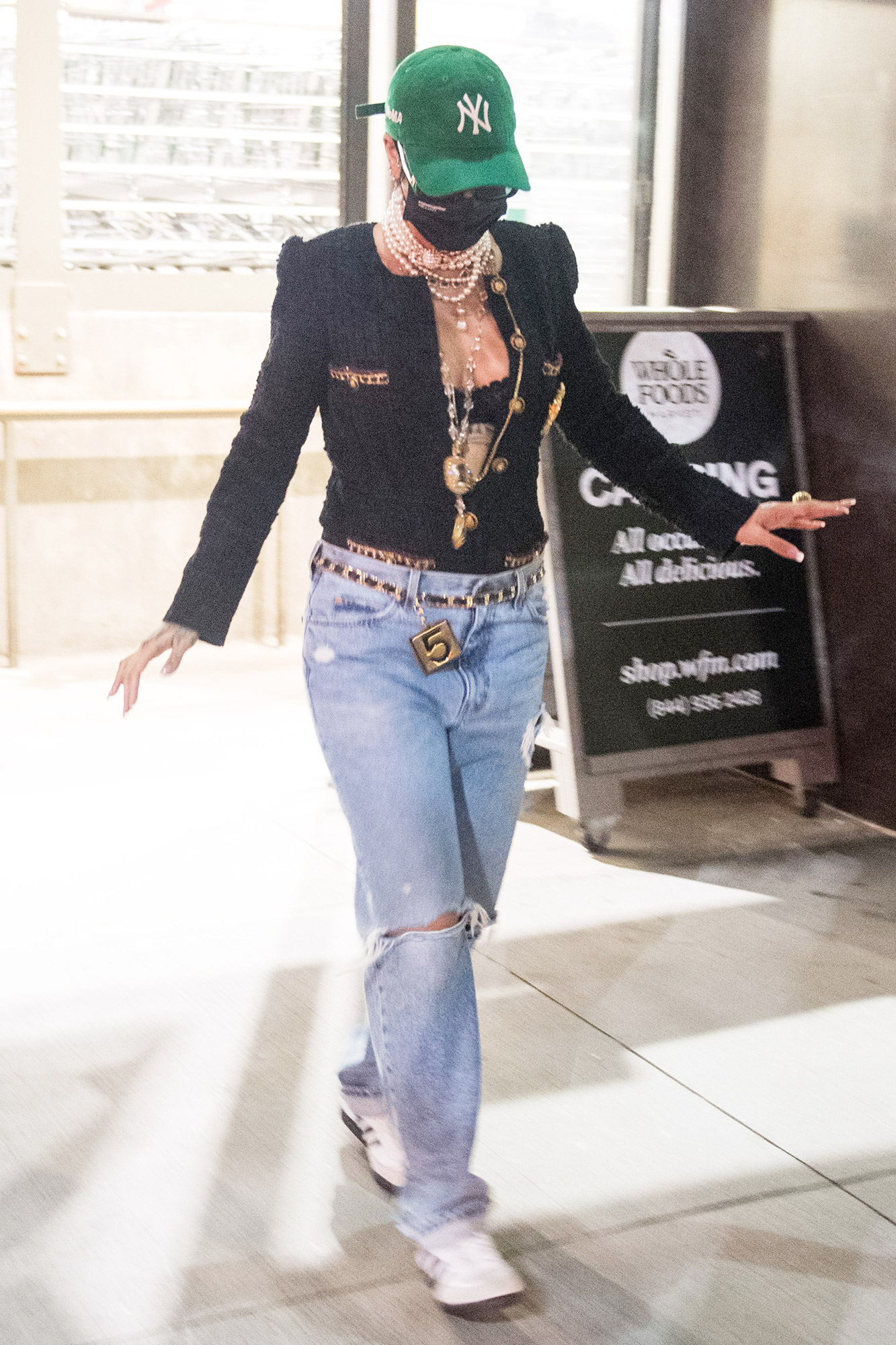 Rihanna shopping in Whole Foods with her Cousin, Tribeca, New York, USA - 15 Aug 2021
