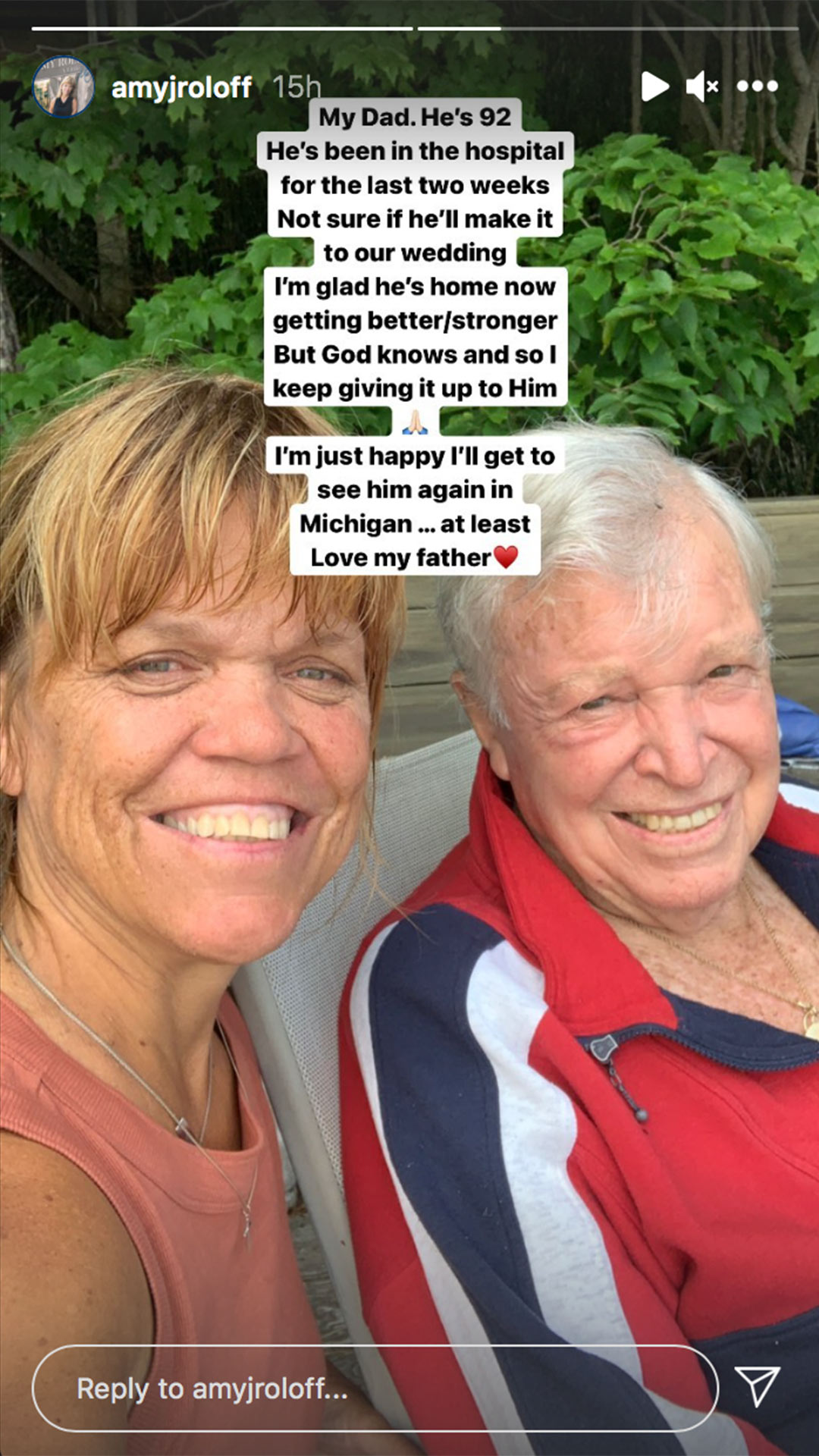 Amy roloff and dad