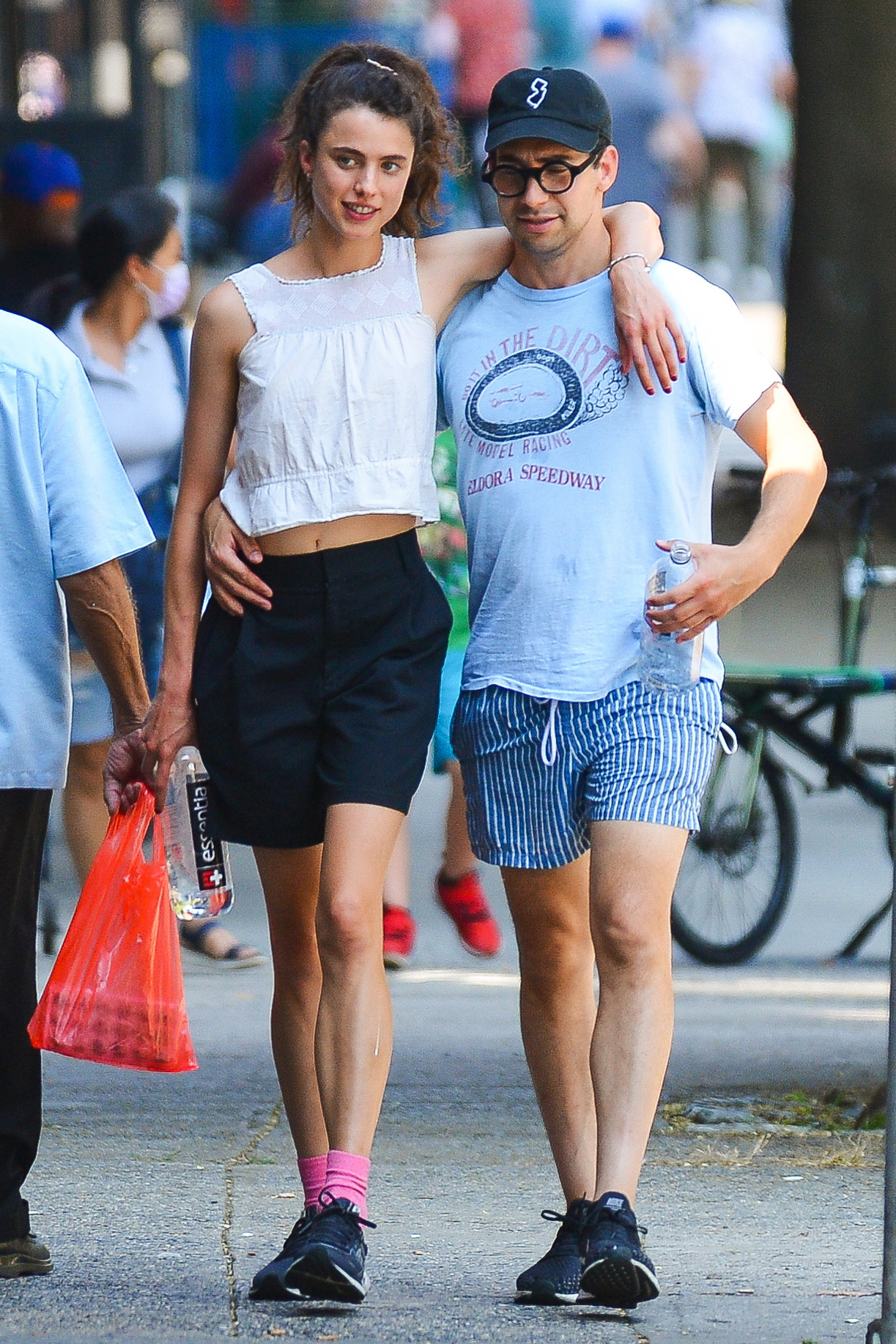 Margaret Qualley and Jack Antonoff pack on the PDA during an ice cream date in New York City