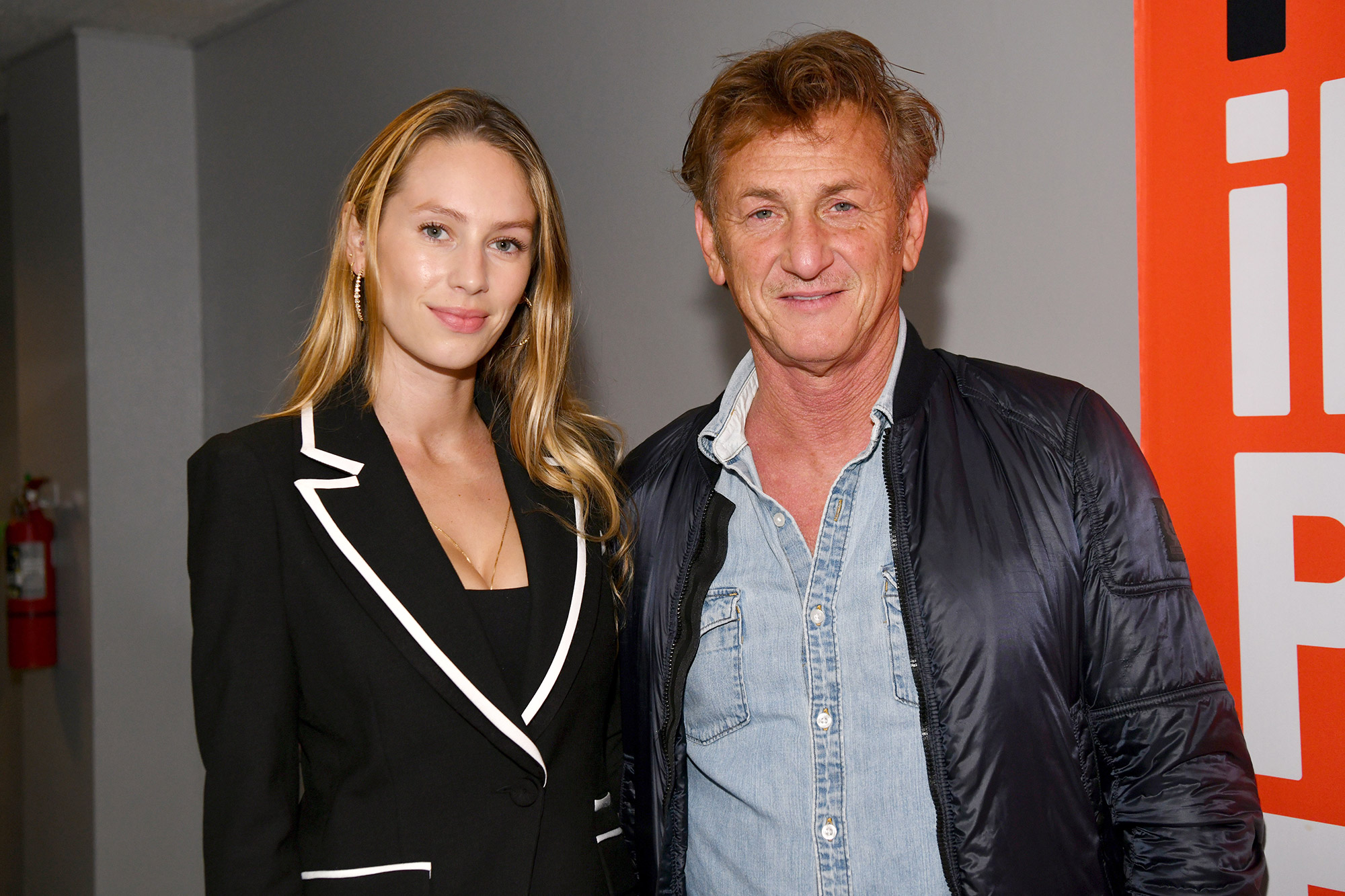 """Dylan Penn and Sean Penn attend the Special Screening Of """"Flag Day"""" at Harmony Gold on August 16, 2021 in Los Angeles, California"""