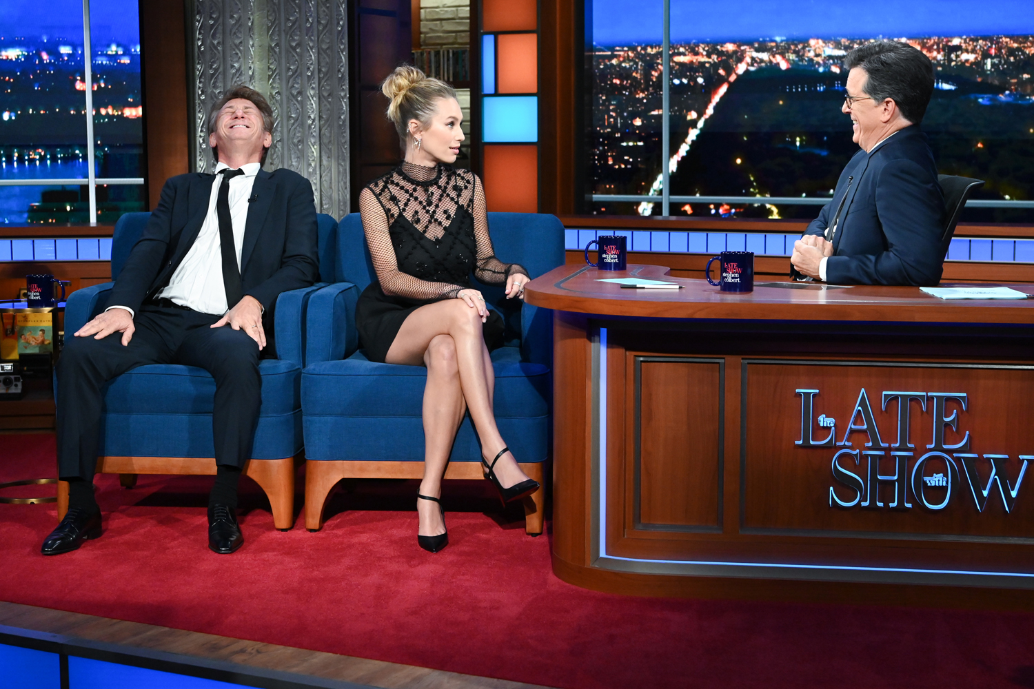 The Late Show with Stephen Colbert and guest Sean Penn and Dylan Penn