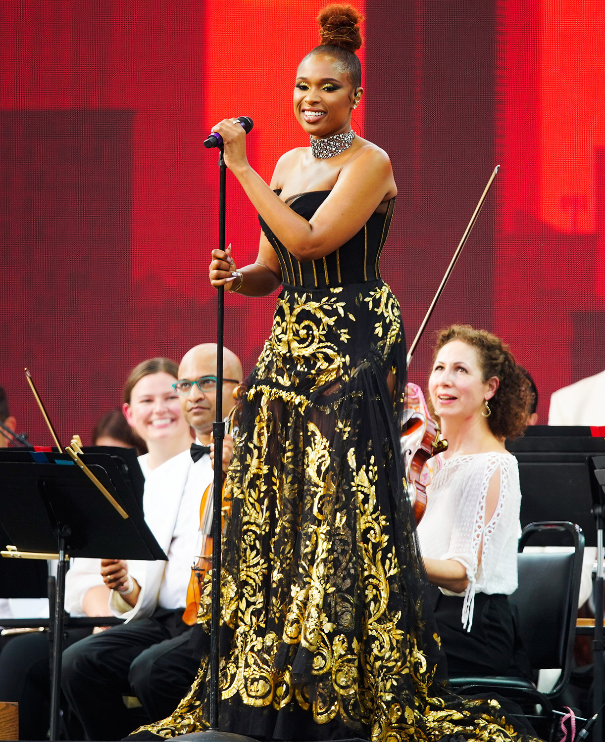 Jennifer Hudson performs during We Love NYC: The Homecoming Concert at Central Park, Great Lawn on August 21, 2021 in New York City.