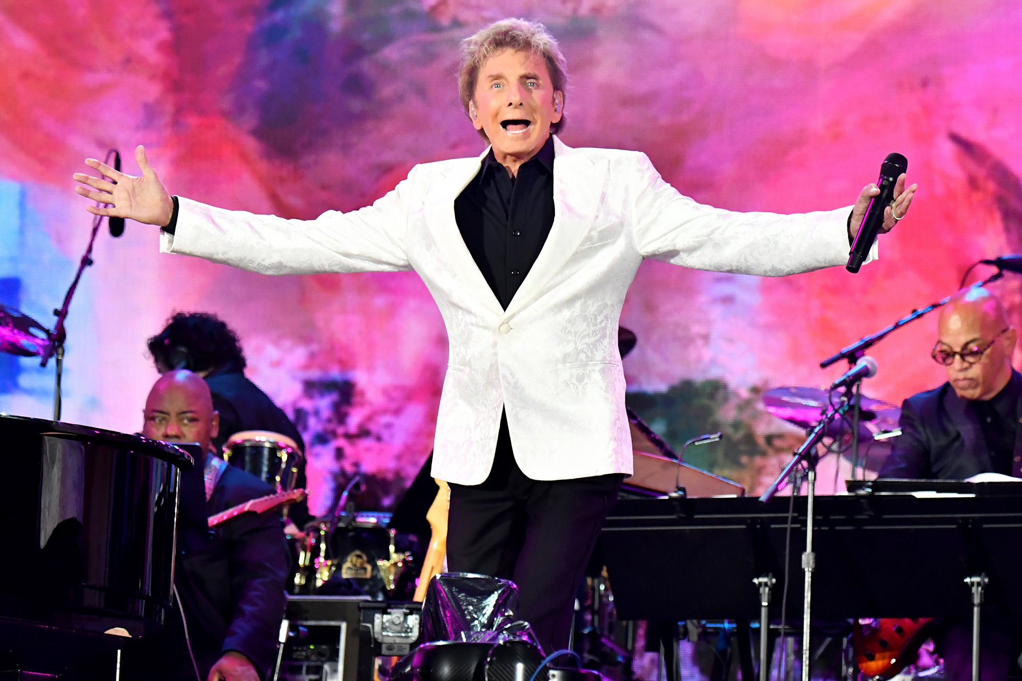 Barry Manilow performs onstage during We Love NYC: The Homecoming Concert Produced by NYC, Clive Davis, and Live Nation on August 21, 2021 in New York City.