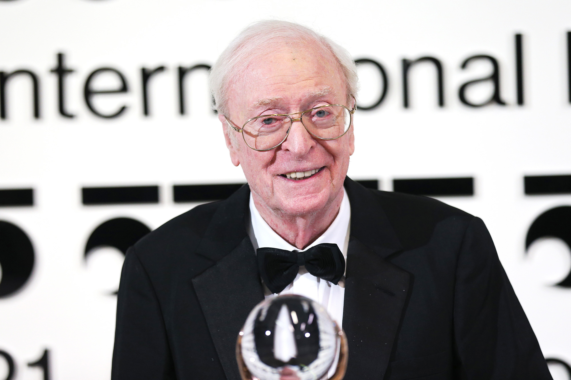 Sir Michael Caine is awarded with the Crystal Globe for Outstanding Contribution to World Cinema at the 55th Karlovy Vary International Film Festival opening on August 20, 2021 in Karlovy Vary (Karlsbad), Czech Republic