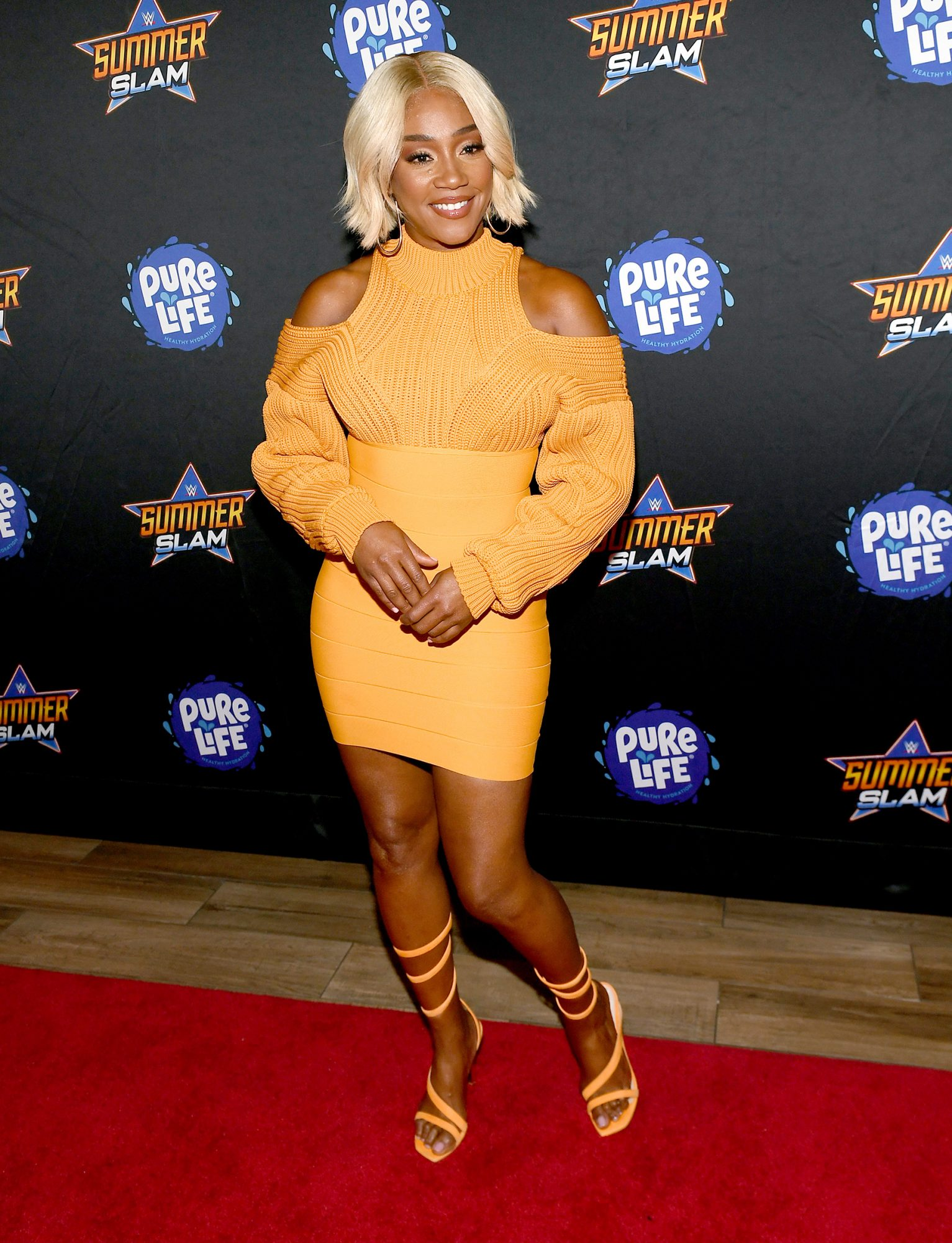 Tiffany Haddish attends the WWE SummerSlam after party at Delano Las Vegas at Mandalay Bay Resort and Casino on August 21, 2021 in Las Vegas, Nevada