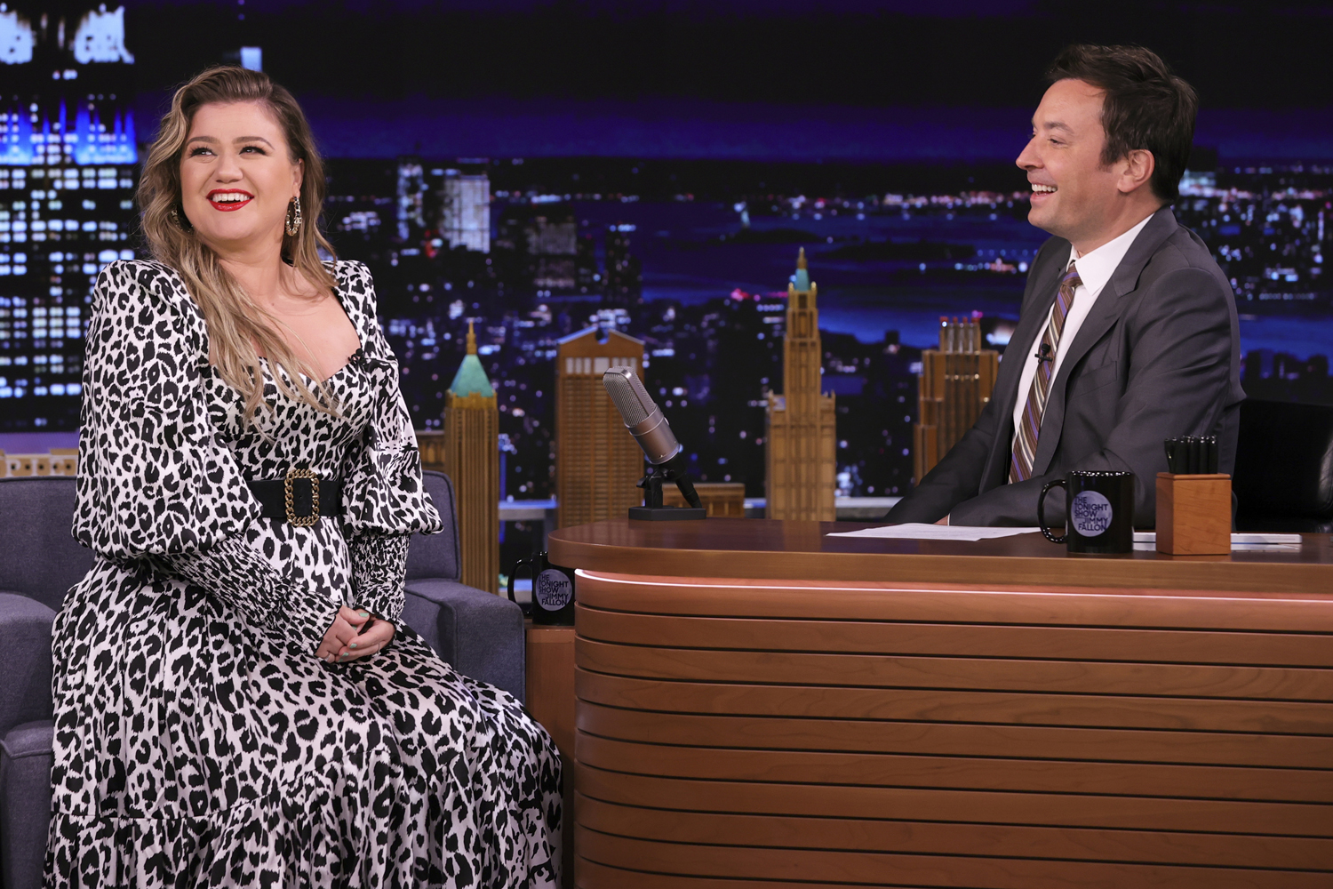 Kelly Clarkson during an interview on 'The Tonight Show Starring Jimmy Fallon'