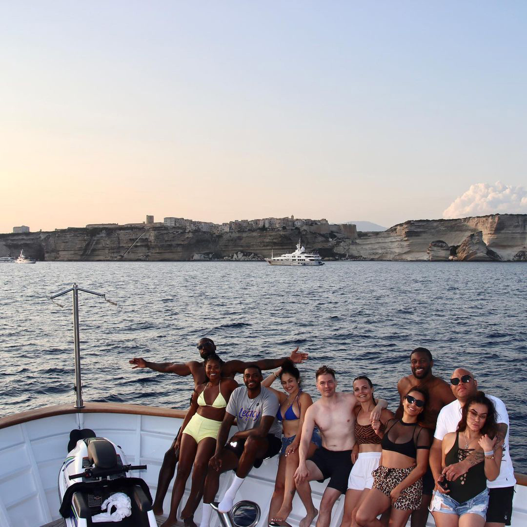 Dwyane Wade and Gabrielle Union PDA on Yacht in the Mediterranean