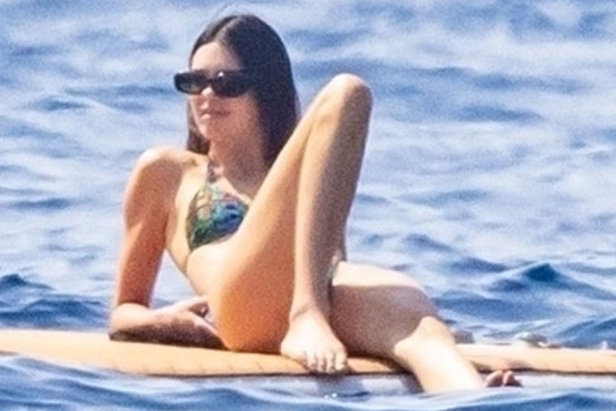 Model and Reality star Kendall Jenner takes to the Italian waters as she chills out in the blazing hot sunshine in Nerano.